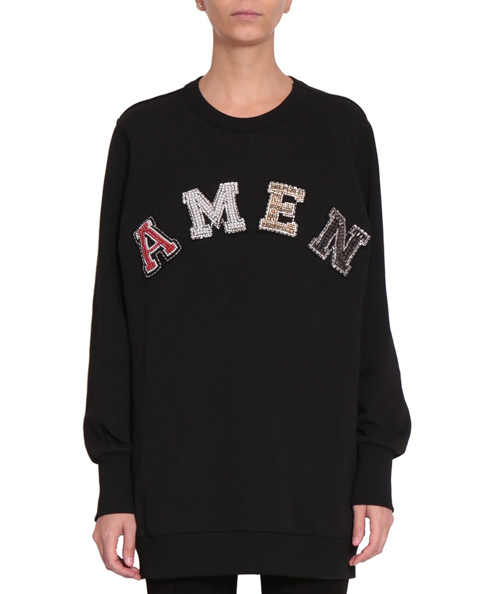 Amen Logo Cotton Sweatshirt