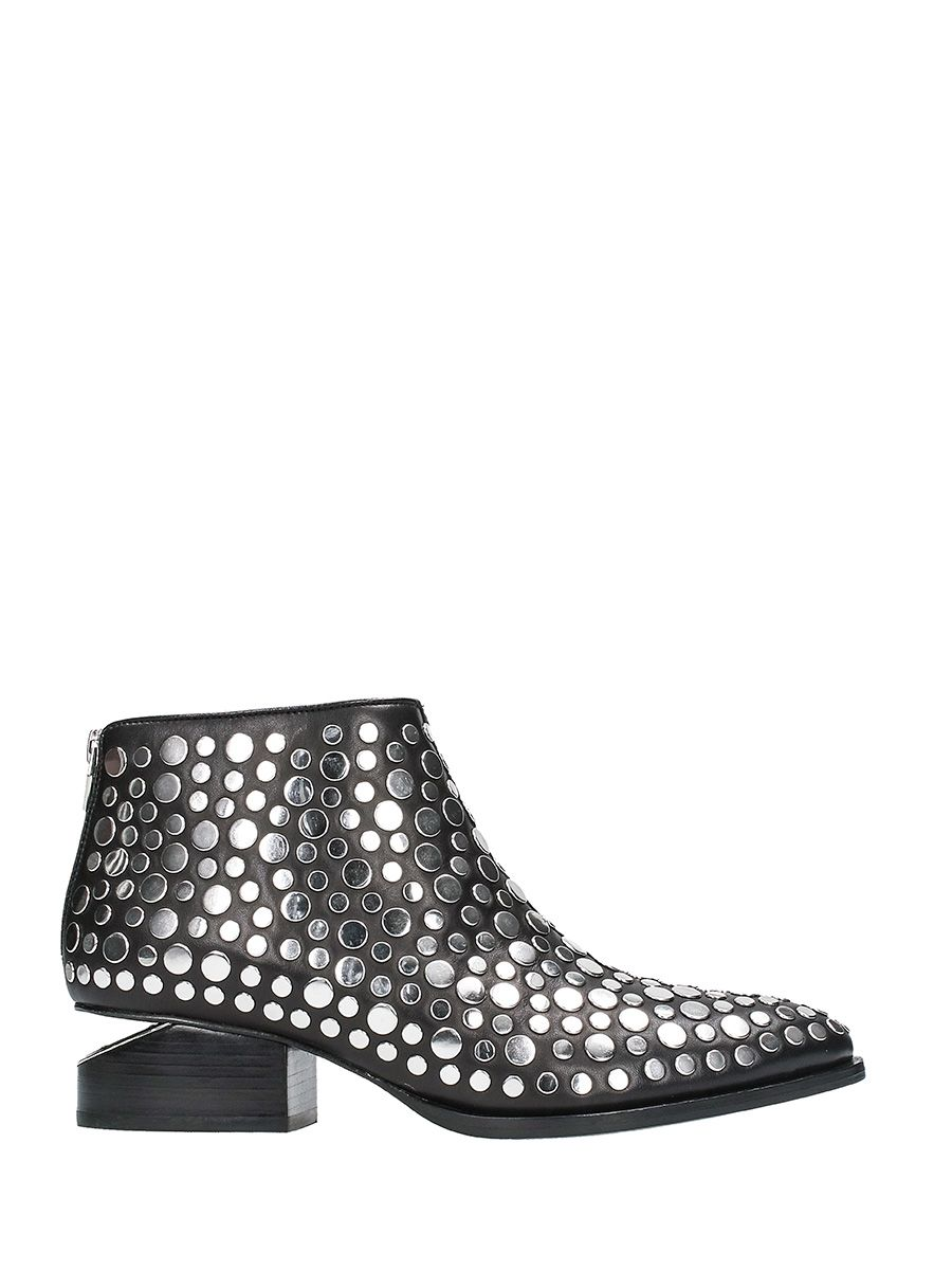 Alexander Wang Studded Kori Black Leather Ankle Boots