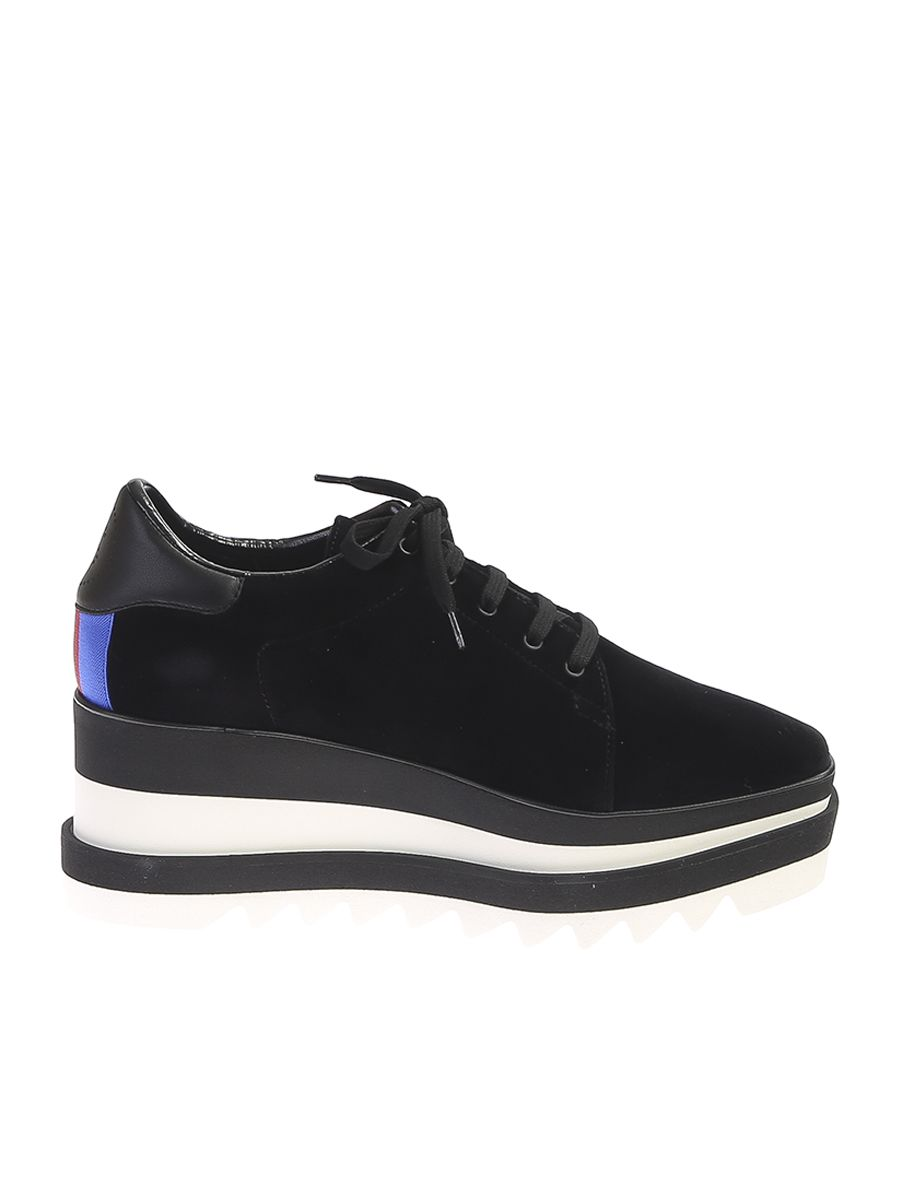 Faux Leather Sneakers With Wedge And Plateaux