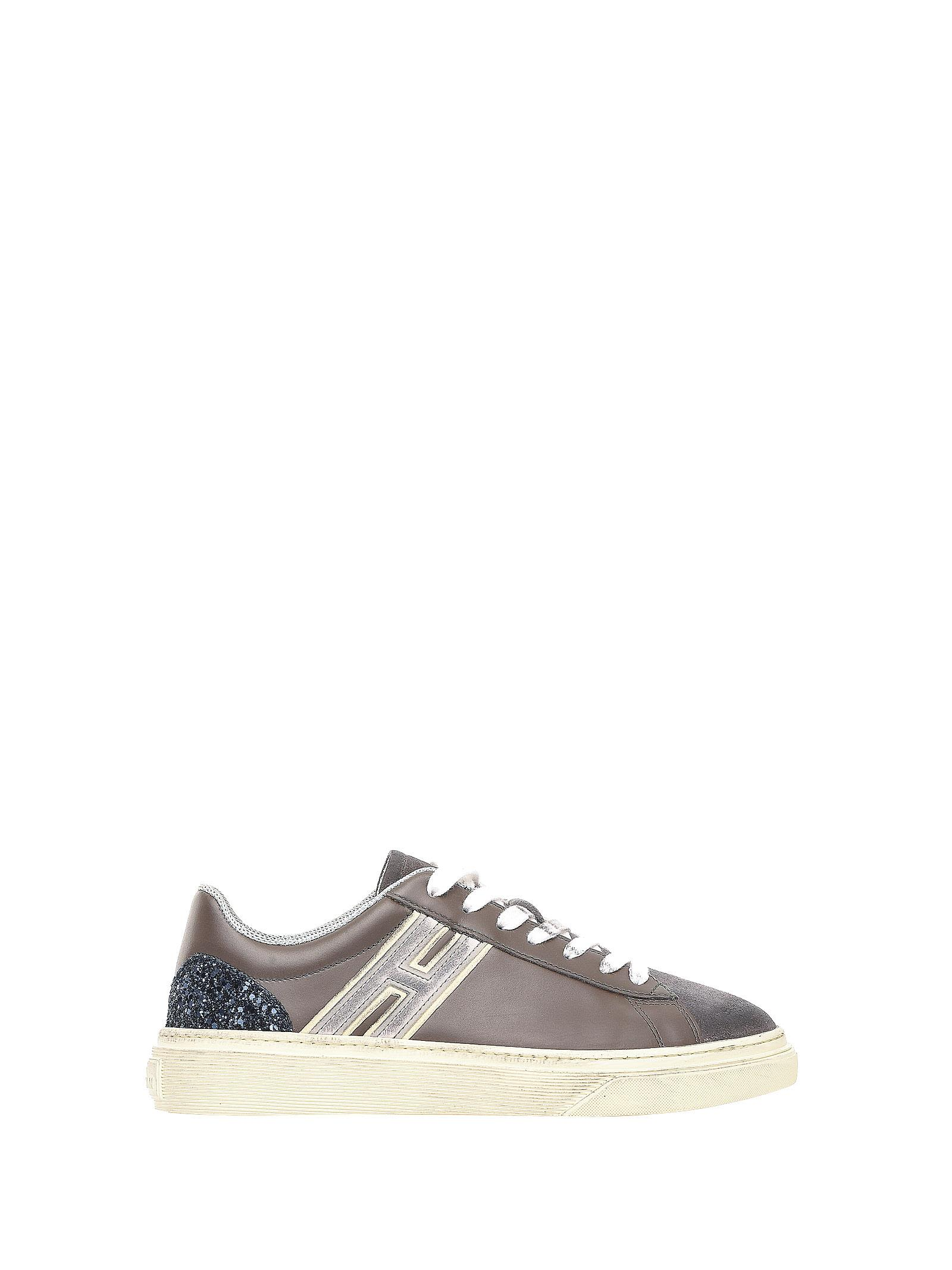 Hogan Sneakers H340 Brown-grey-glitter