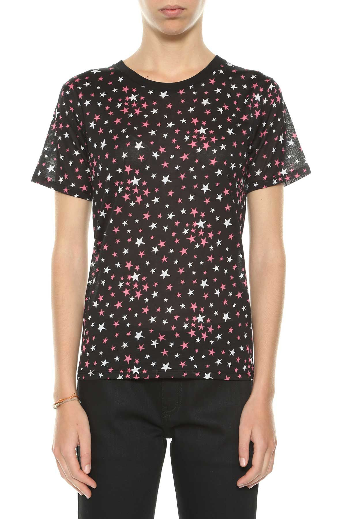 Saint Laurent T-shirt With Printed Stars