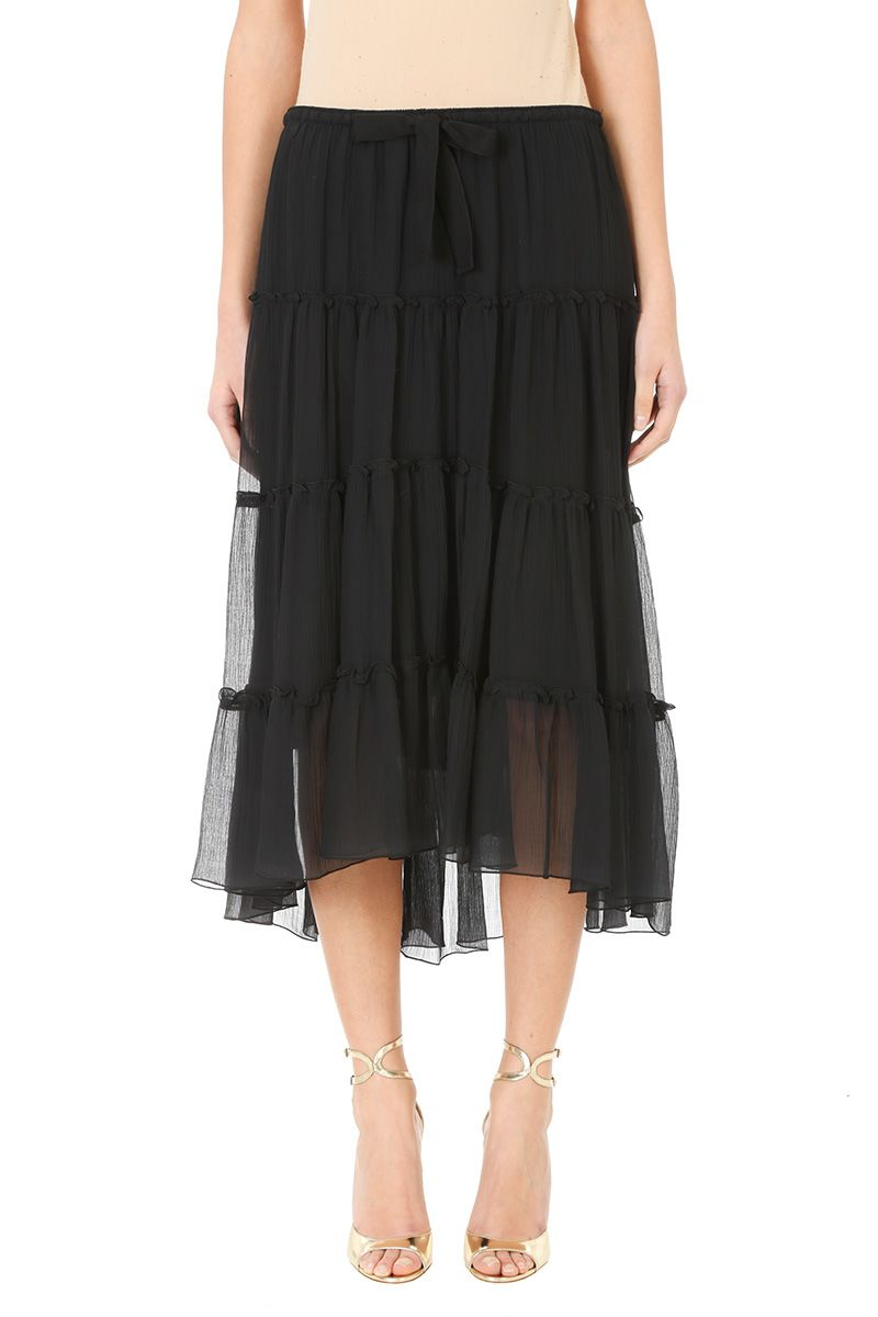See by Chloé Black Lightweight Long Skirt