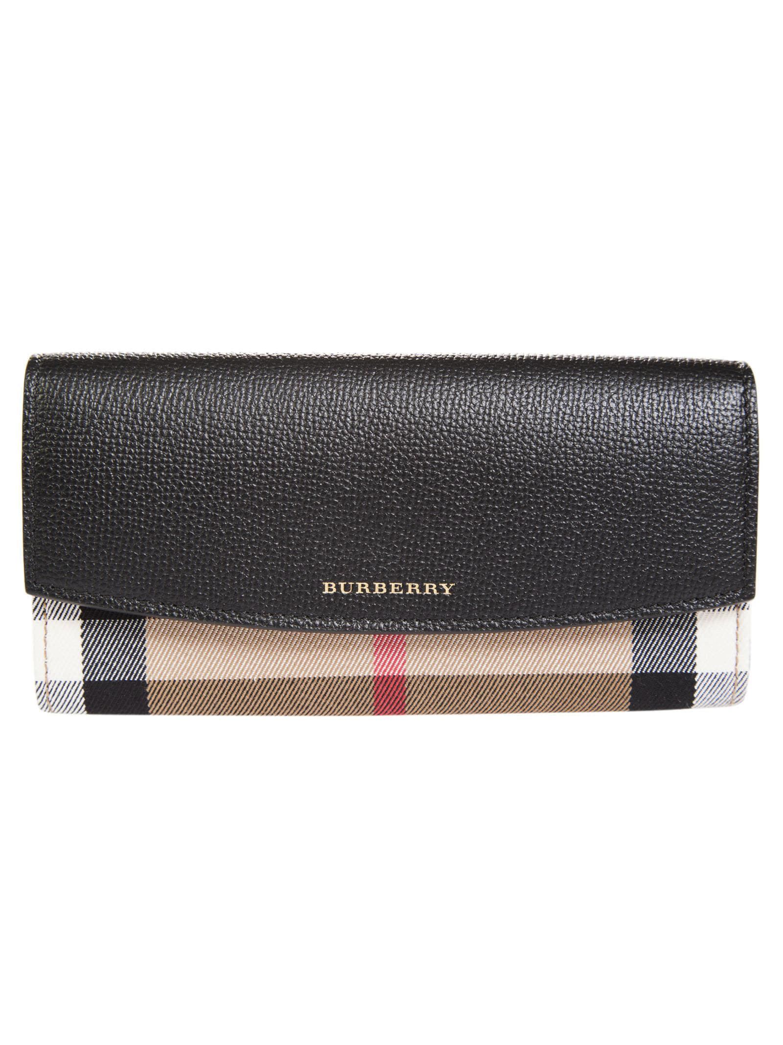 Burberry Check Detail Continental Wallet