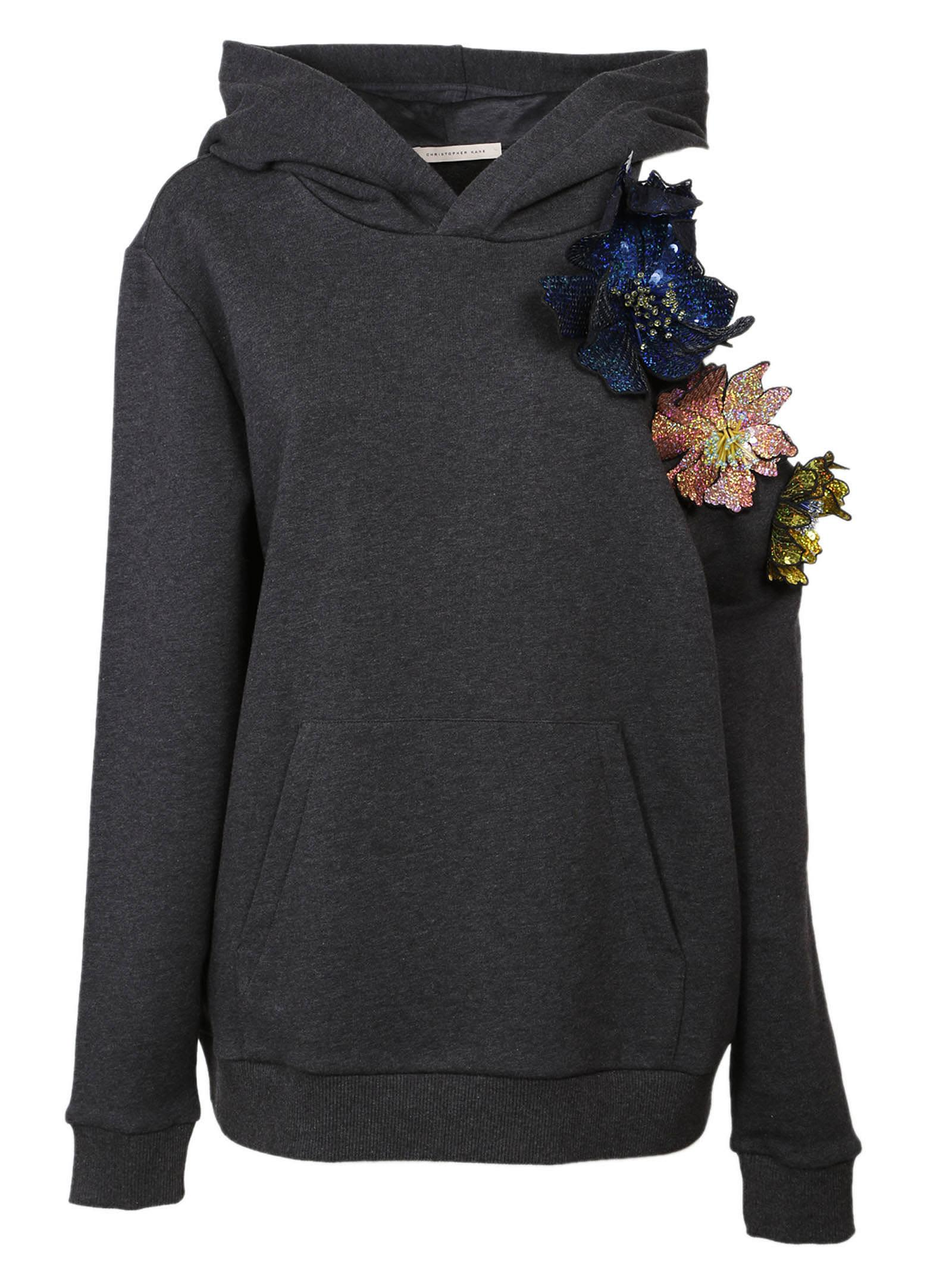 Christopher Kane Cut-out Flower Hoodie