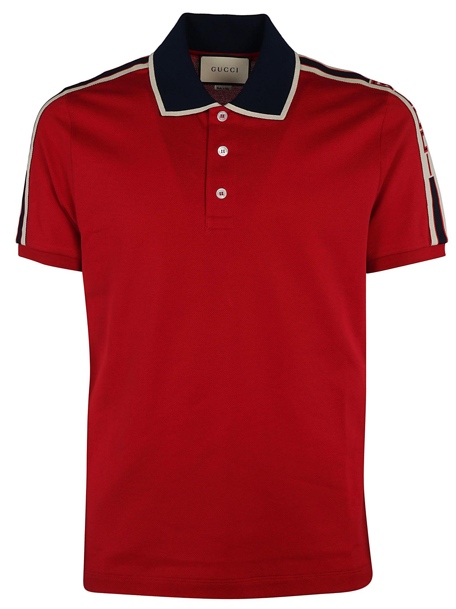 Gucci Striped Trim Polo Shirt