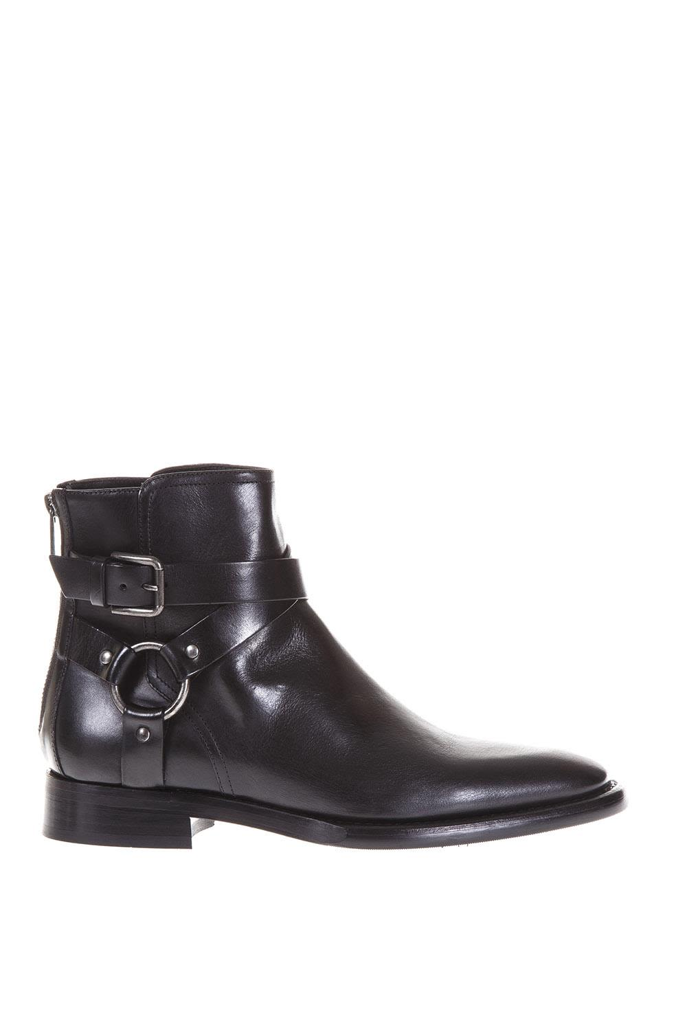 Dolce & Gabbana Leather Buckled Ankle Boots