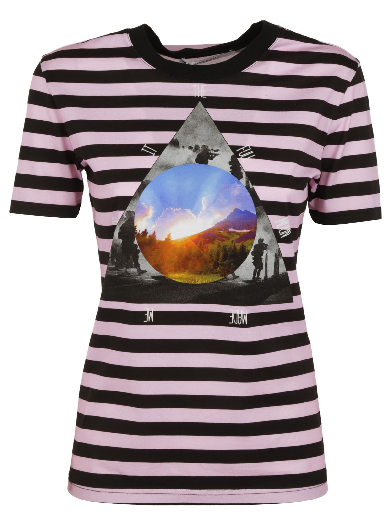 Givenchy Stripe Full Moon T-shirt