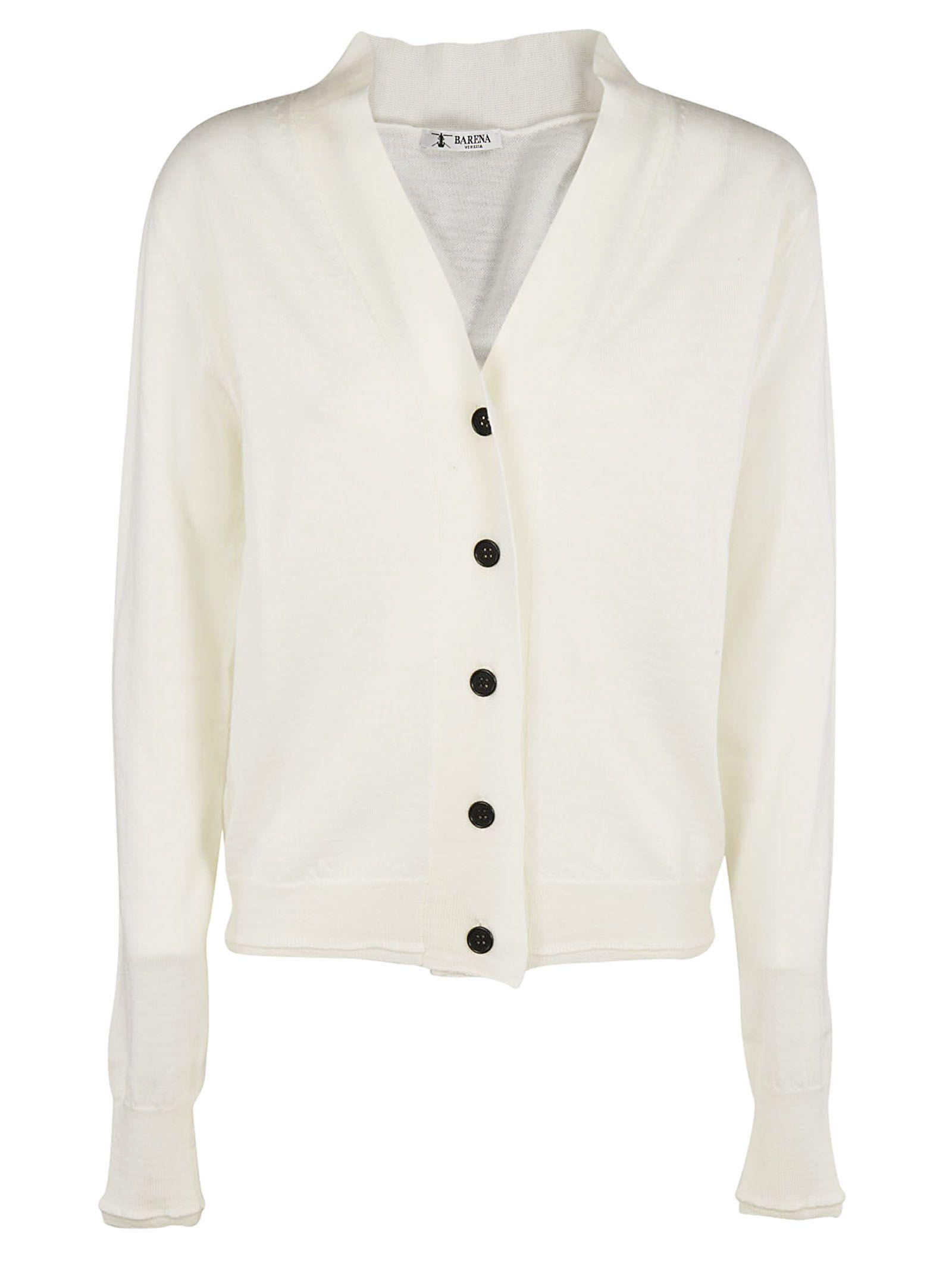 Barena - Barena Classic Cardigan - White, Women's Cardigans | Italist