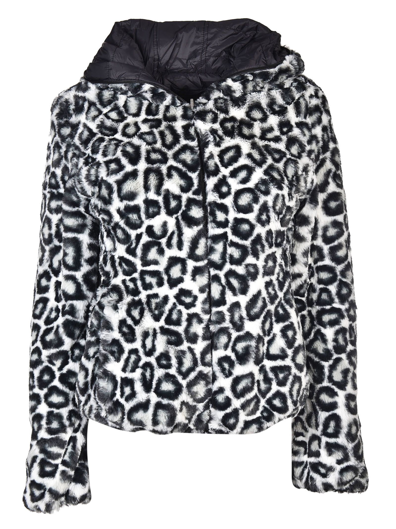 Save The Duck Leopard Down Jacket