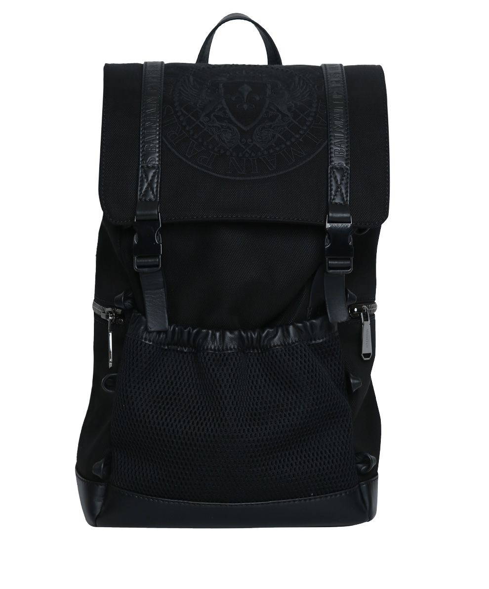 Balmain Climb Leather-trimmed Nylon Backpack