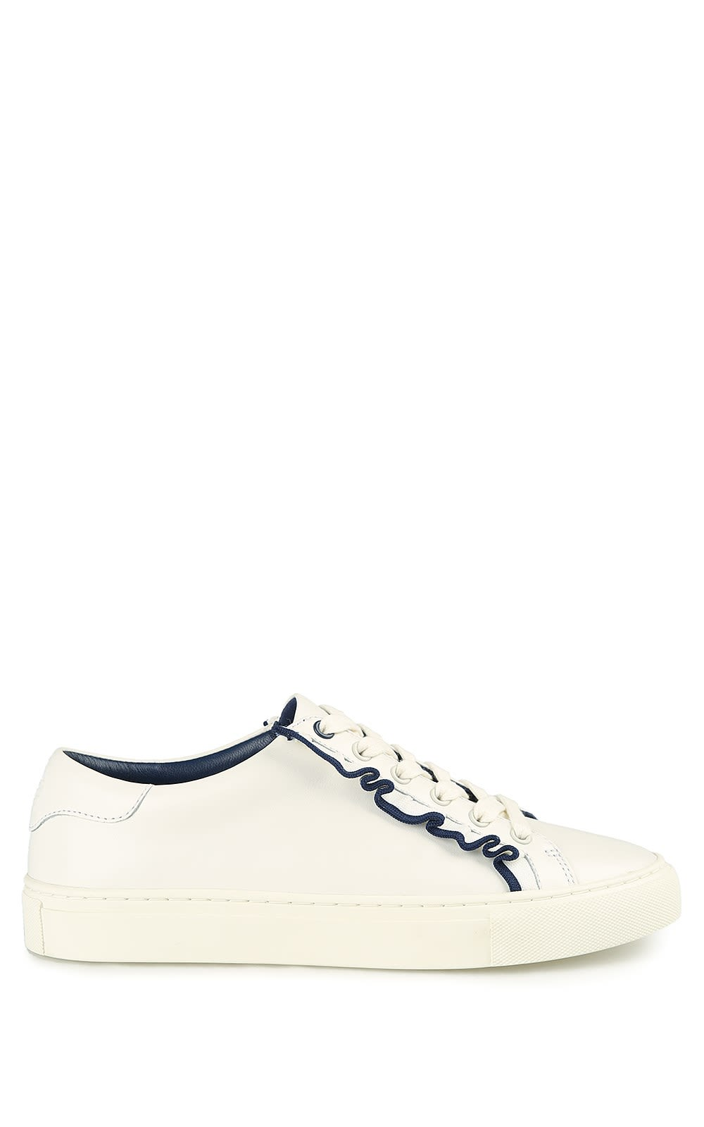 Tory Burch Tory Sport Ruffle-trim Leather Sneakers
