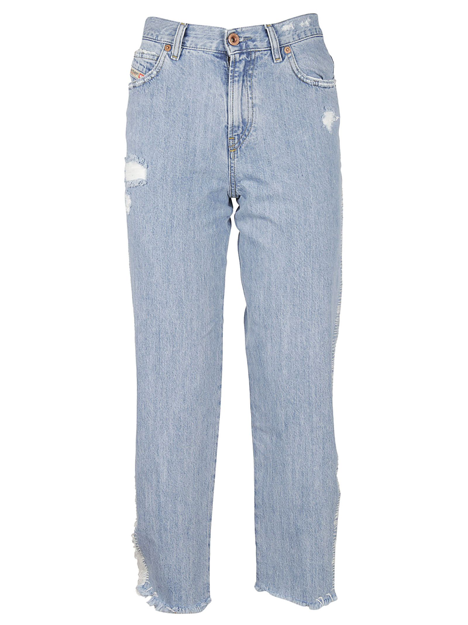 Diesel Distressed Cropped Jeans