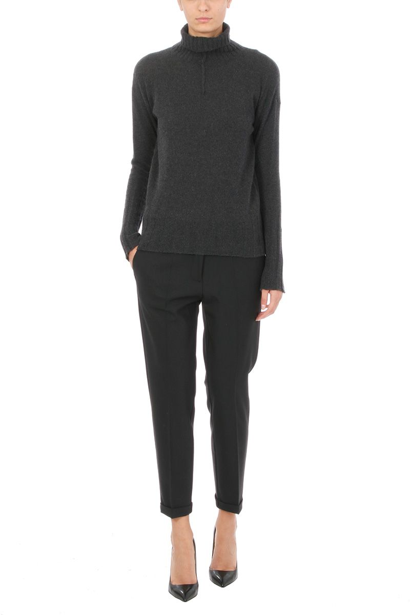 Mauro Grifoni BLACK WOOL TROUSERS