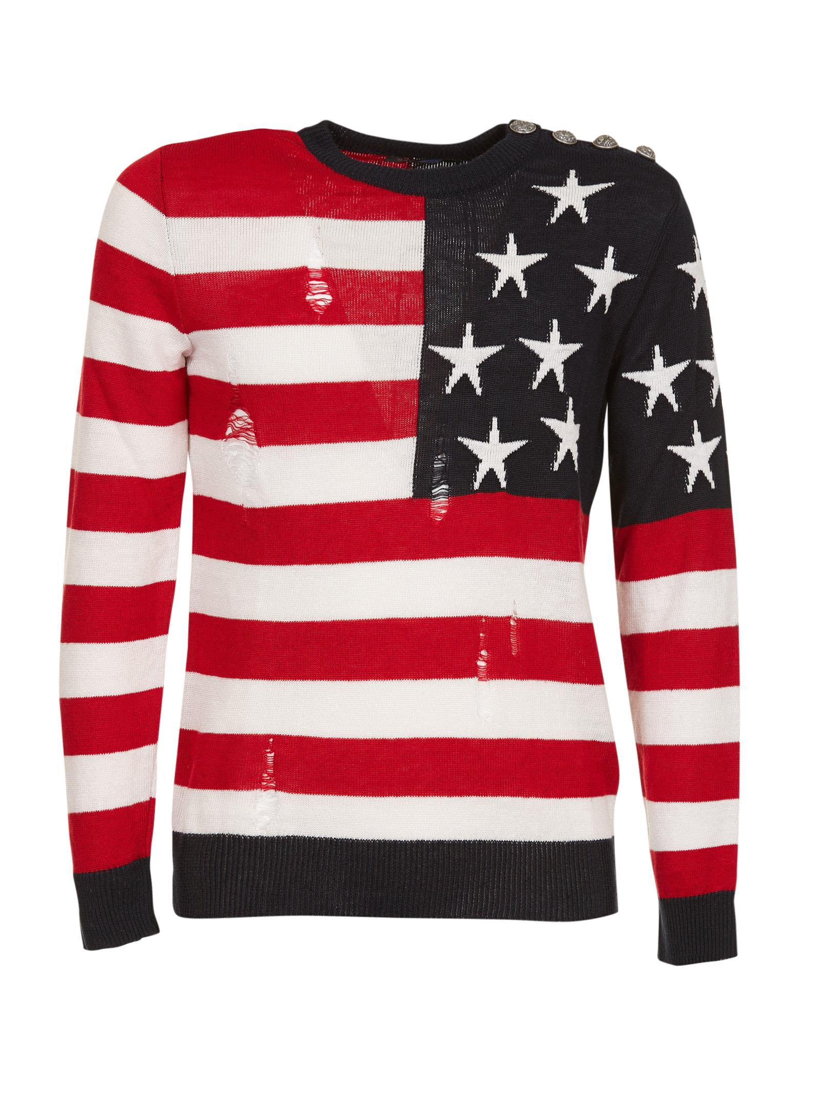 Balmain Usa Flag Jumper