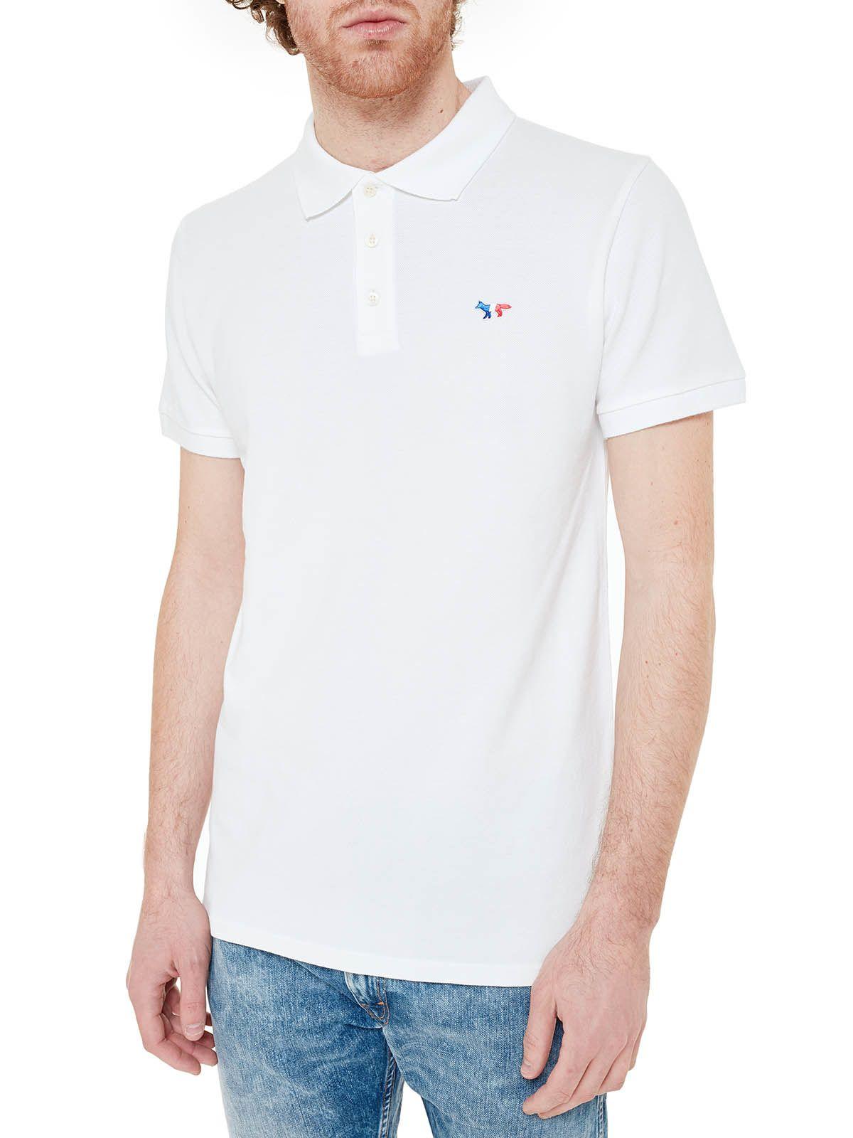 Maison Kitsun? Embroidered Logo Polo Shirt