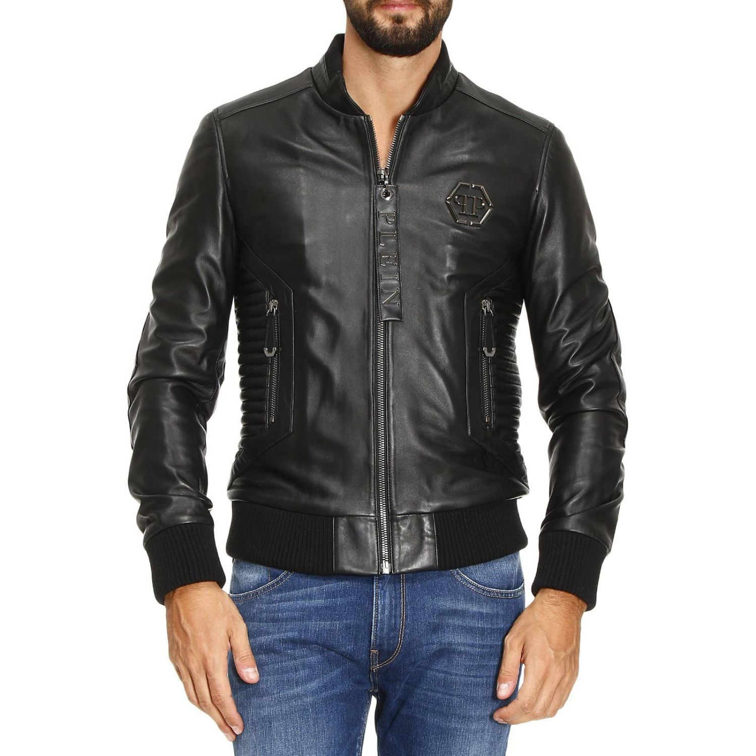 philipp plein jacket jacket men philipp plein black. Black Bedroom Furniture Sets. Home Design Ideas
