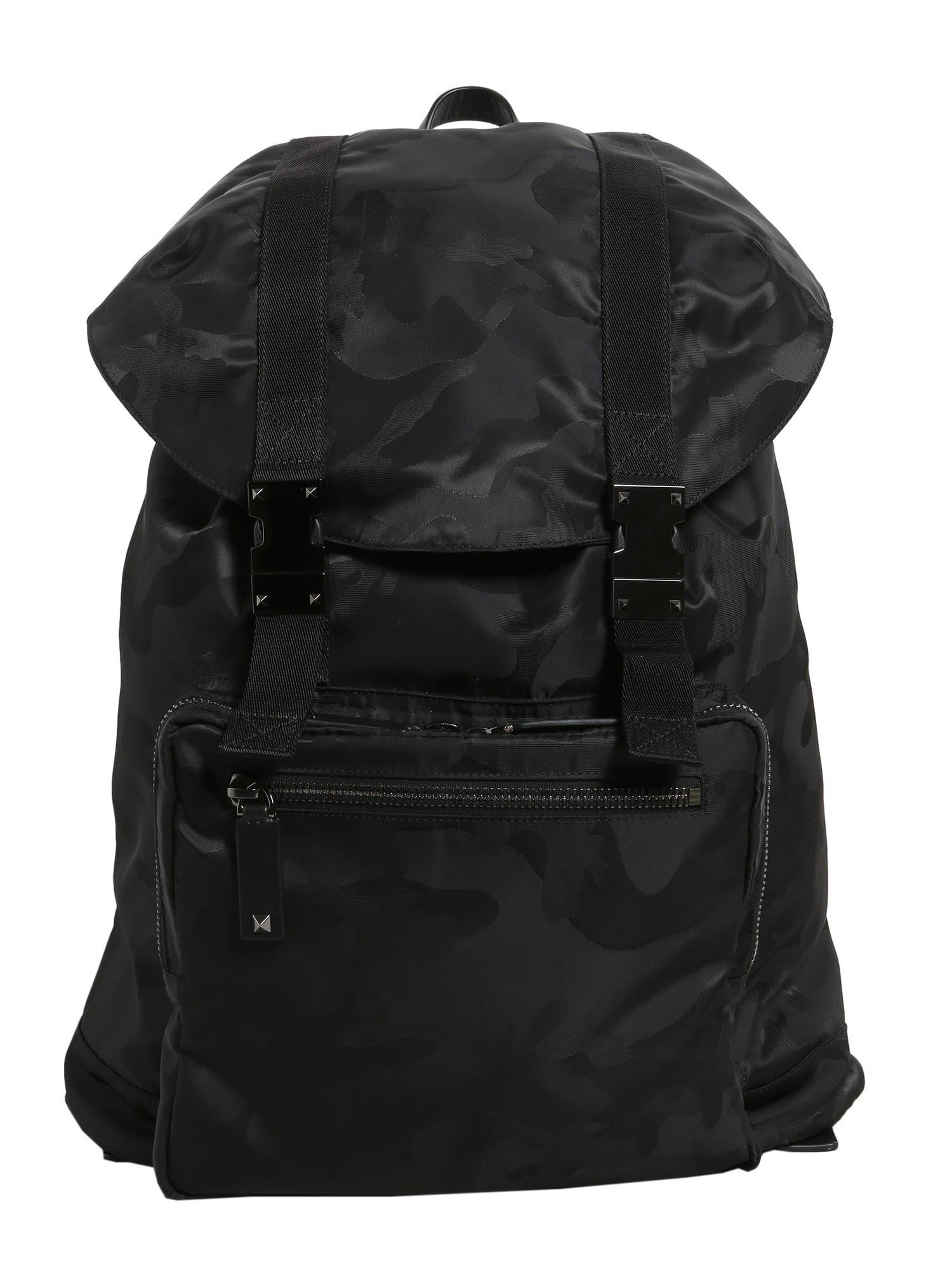 Large Camouflage Jacquard Backpack