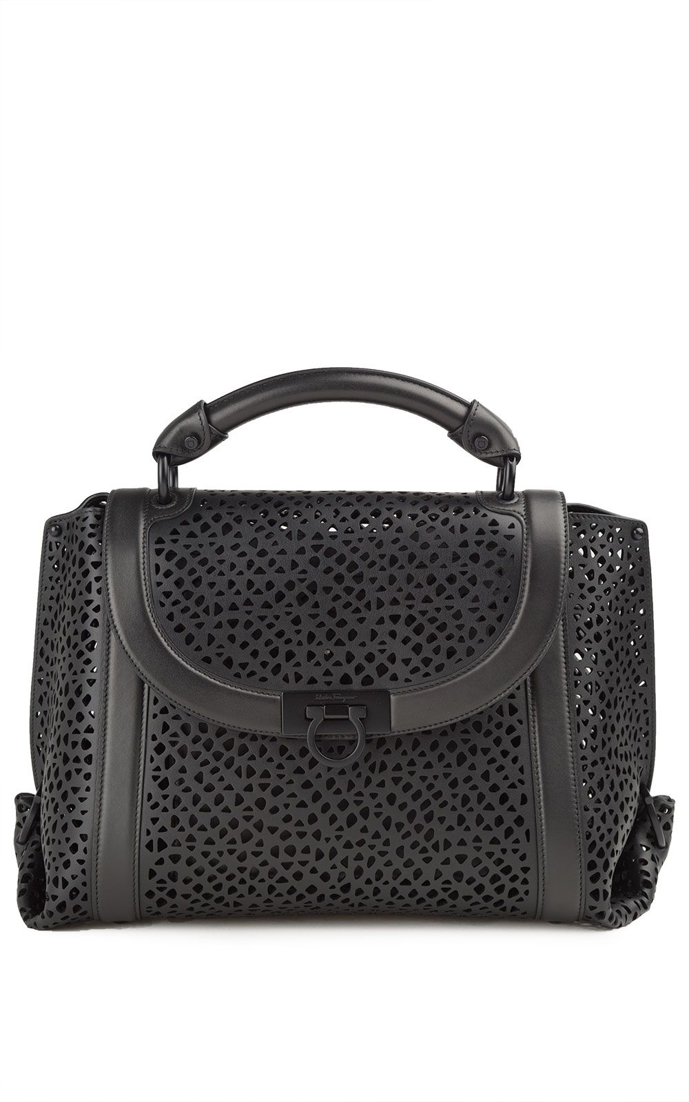 Salvatore Ferragamo Suzanna Medium Perforated-leather Tote Bag