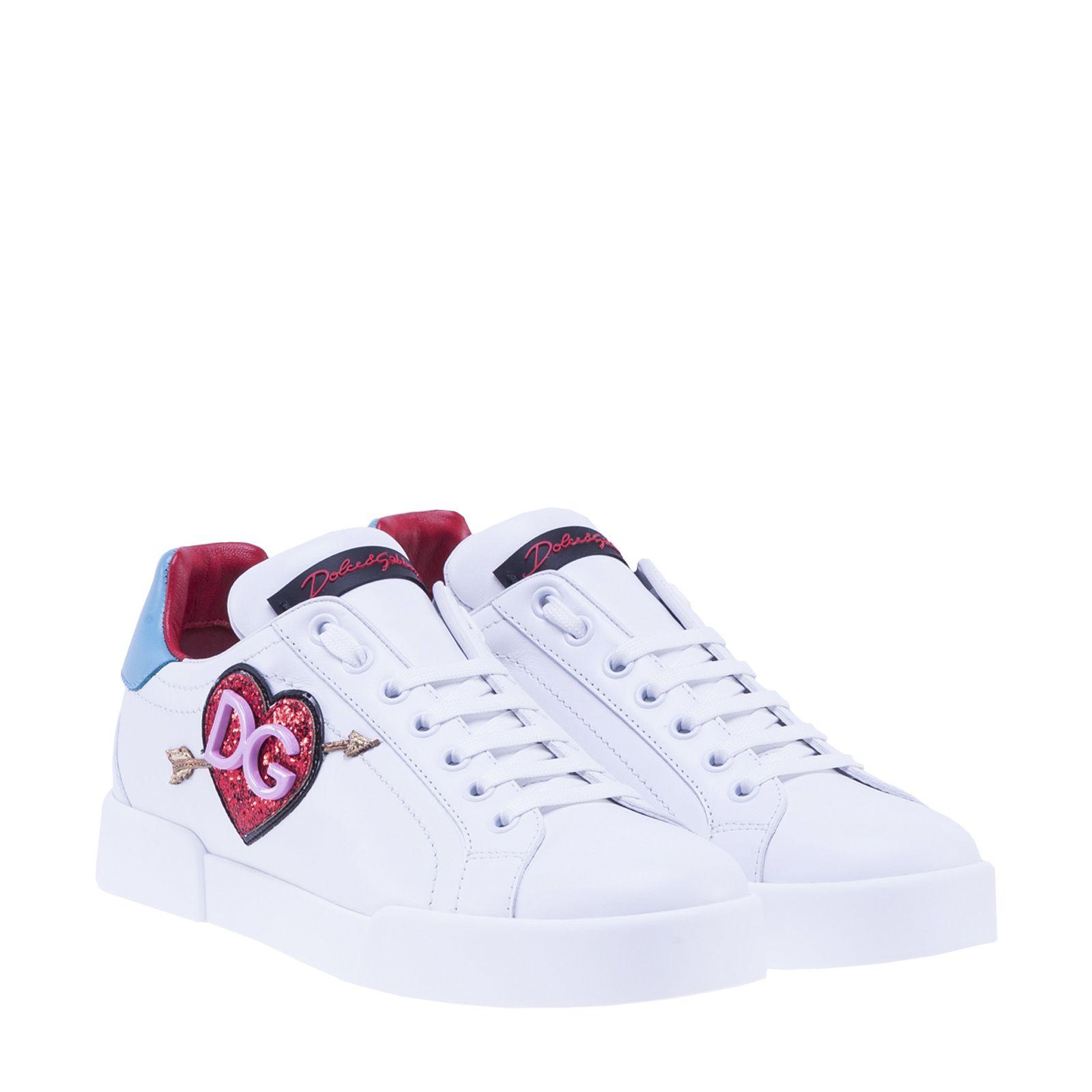 dolce gabbana dolce gabbana heart sneakers white women 39 s sneakers italist. Black Bedroom Furniture Sets. Home Design Ideas