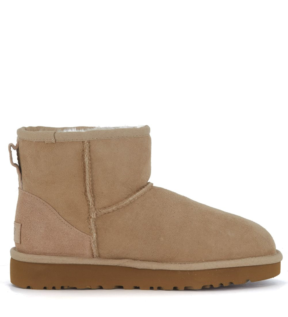 Ugg Classic Ii Mini Ankle Boots In Sand Suede
