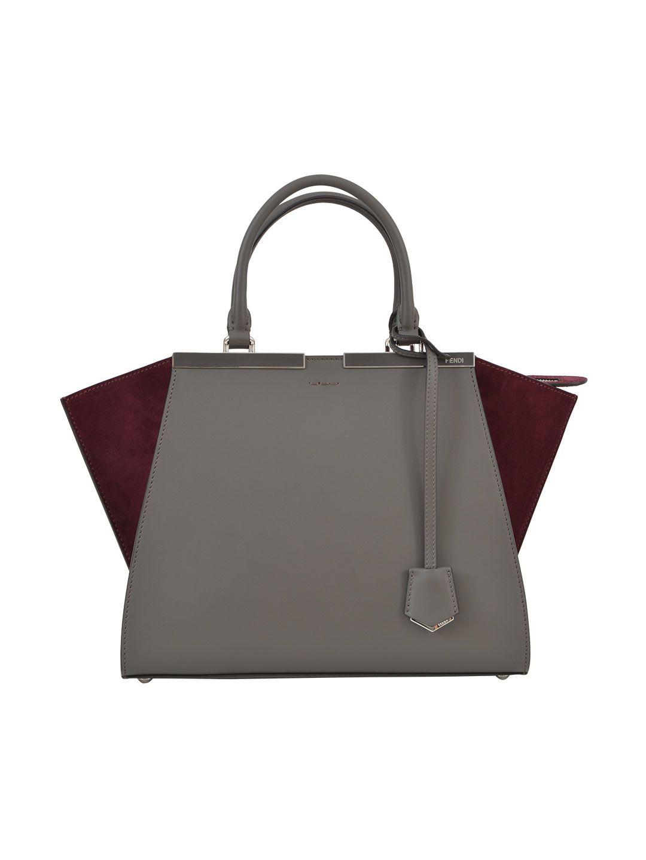 Fendi Burgundy/grey 3jours Bag