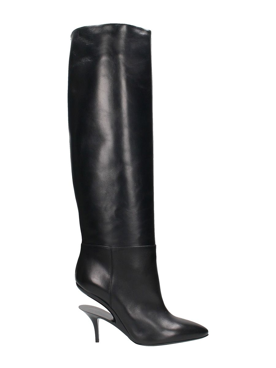 Maison Margiela Cutout Heel Knee High Boots