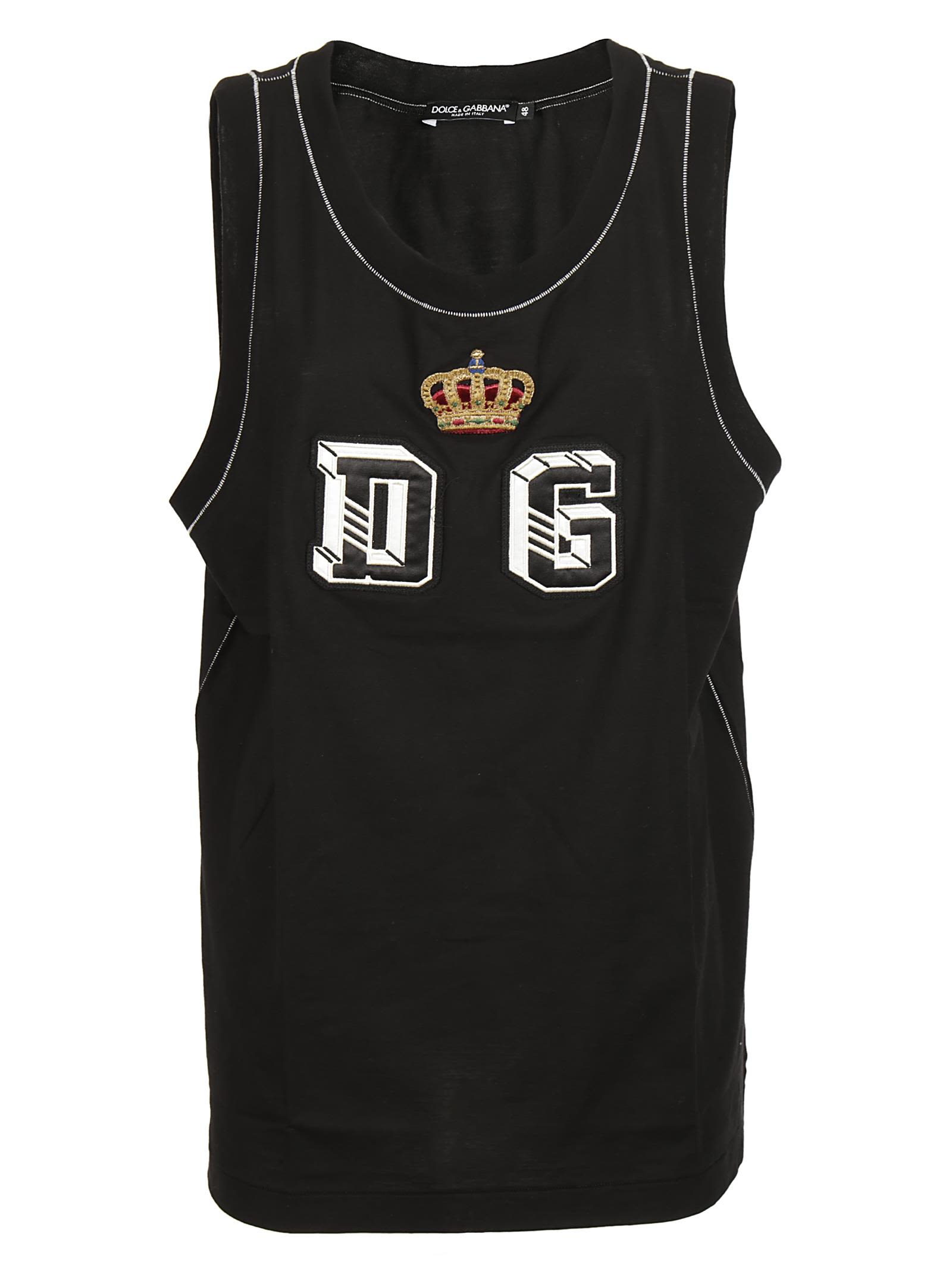 Dolce & Gabbana Logo Embroidered Tank Top