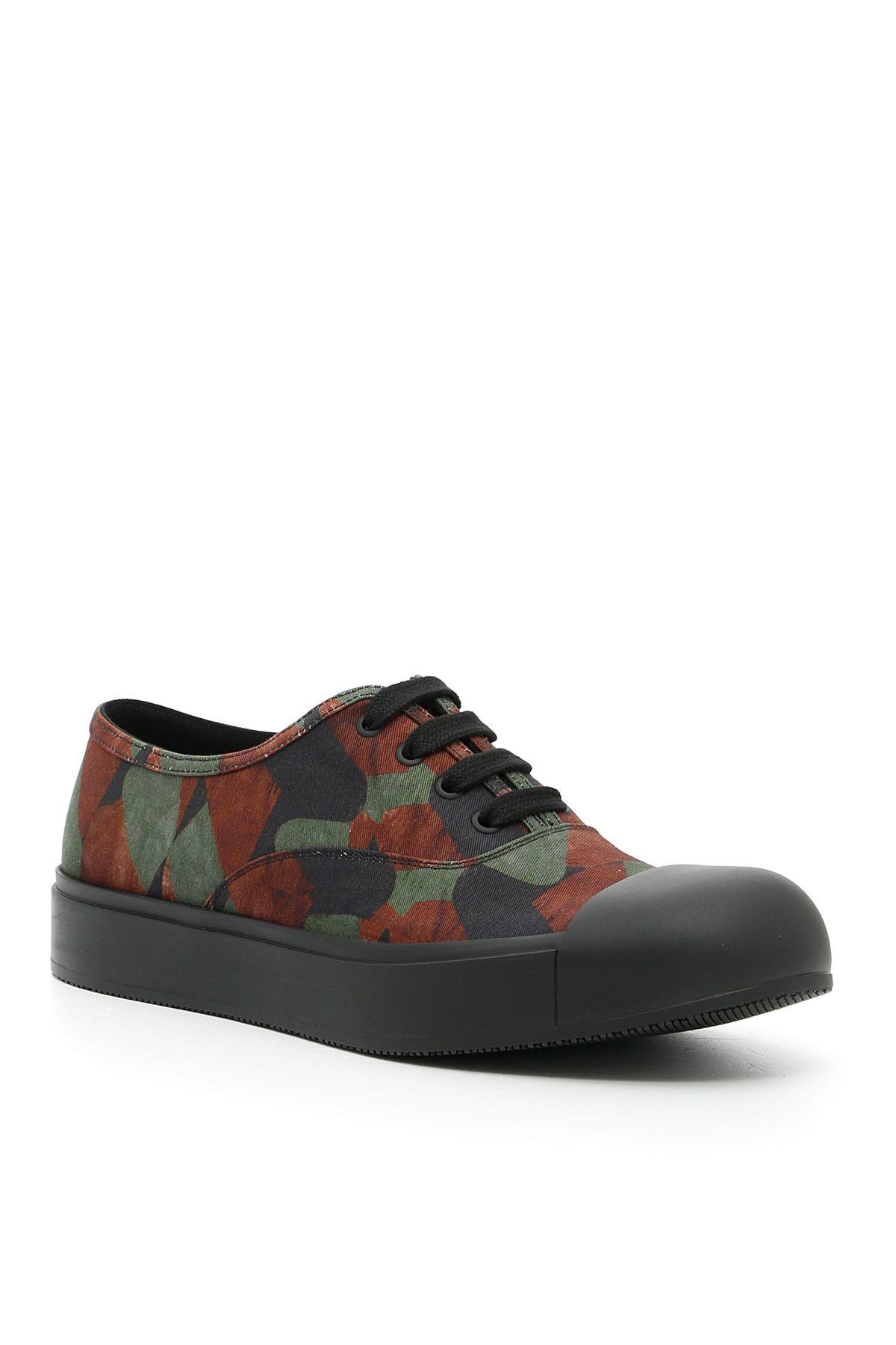 Camouflage Gabardine Sneakers