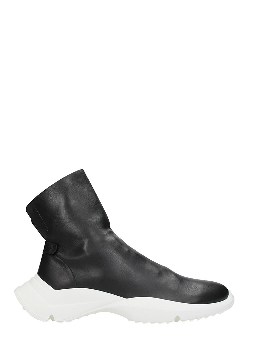 Cinzia Araia Sublim Black Leather Sneakers