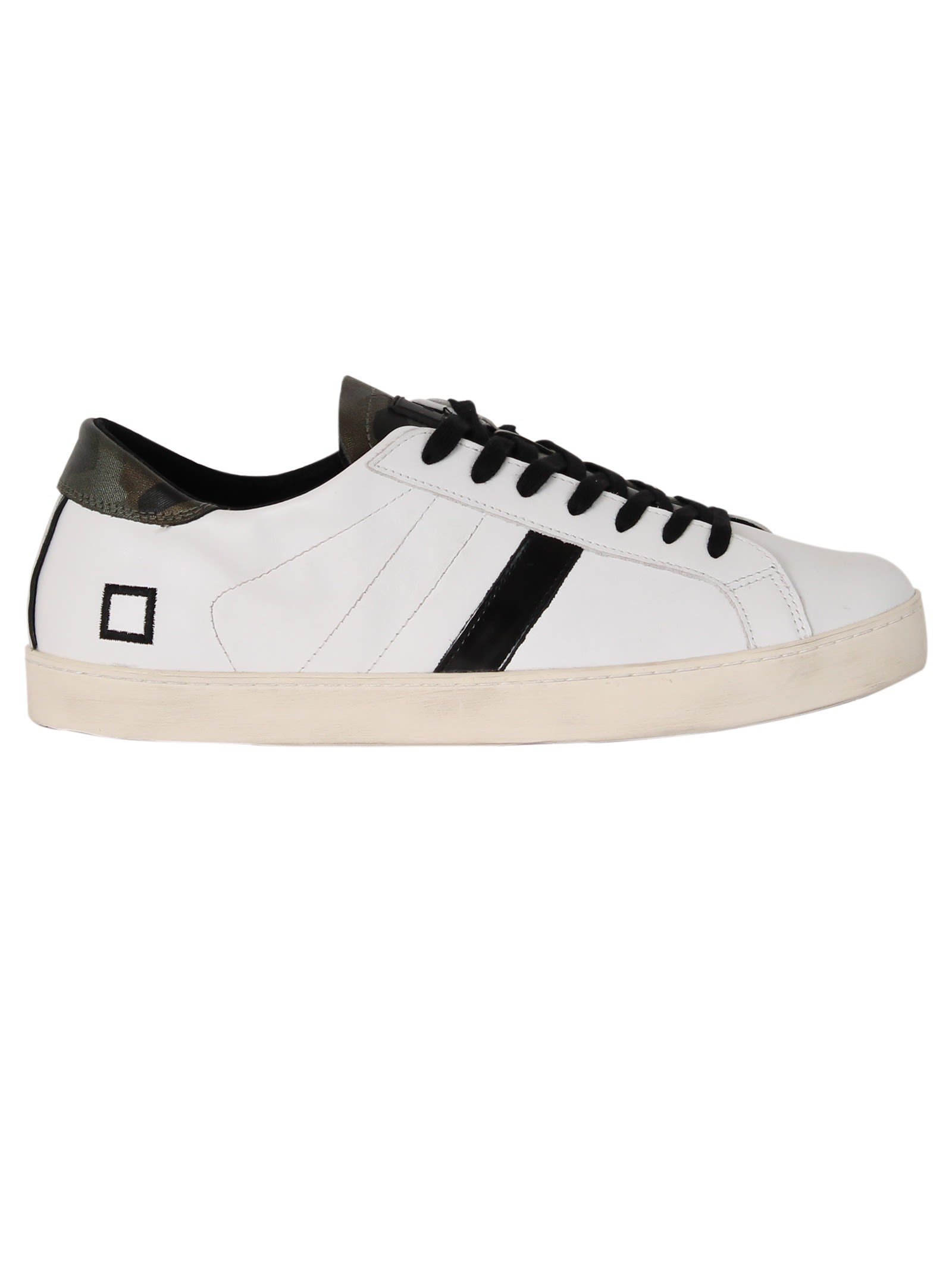 D.A.T.E. White Army Hill Low Sneakers