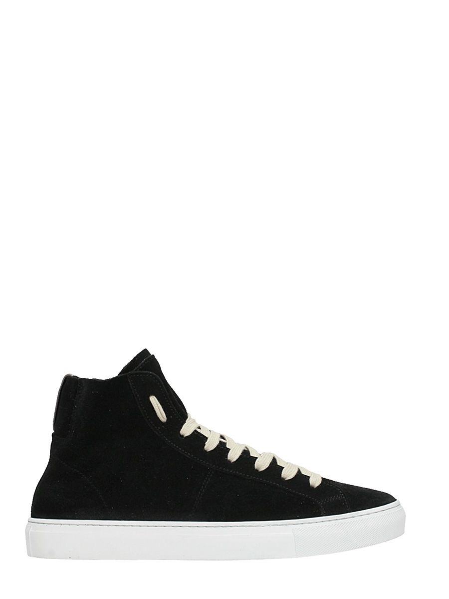Low Brand Retro High Black Suede Sneakers