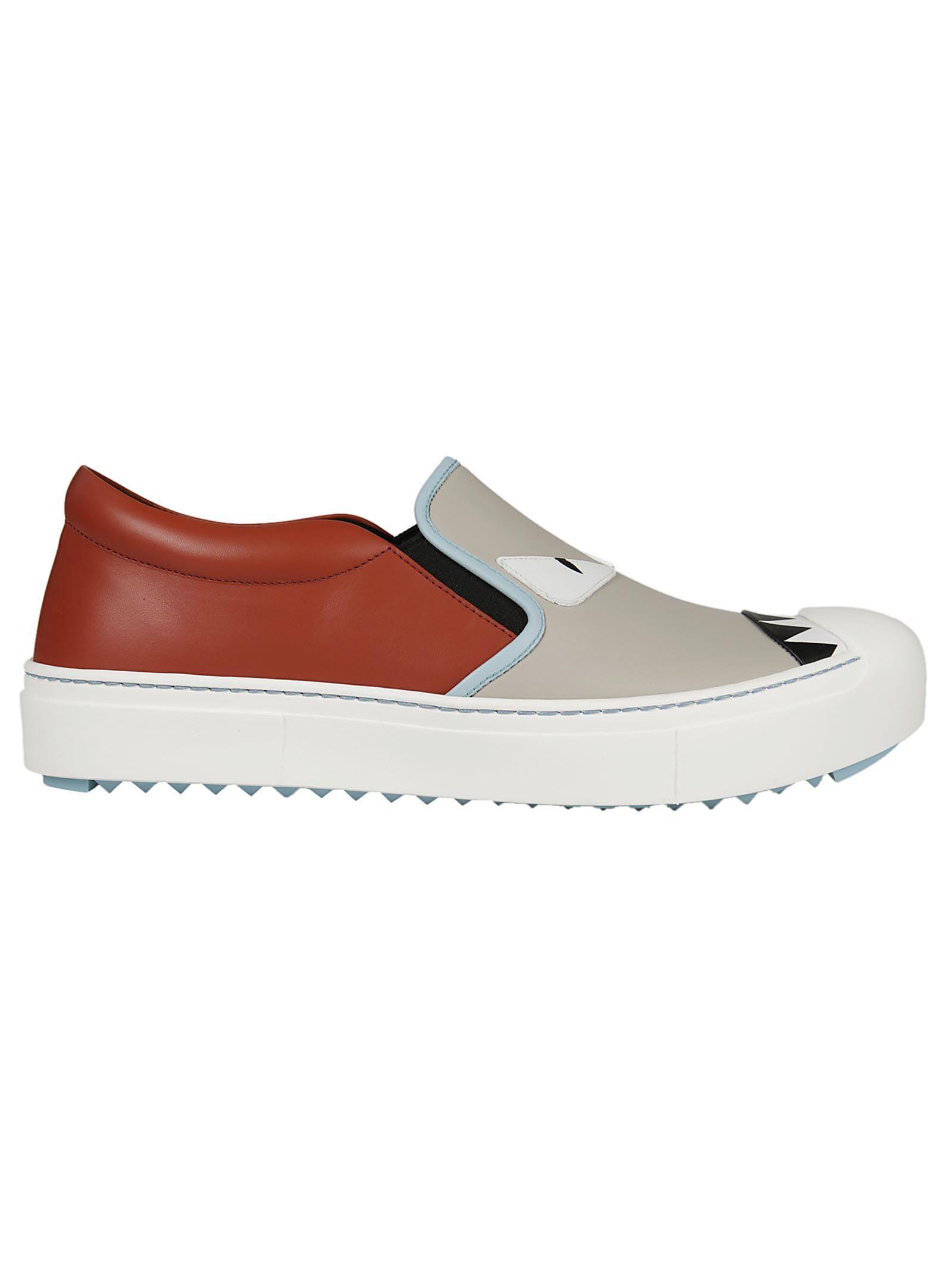 Fendi Embellished Slip-on Sneakers