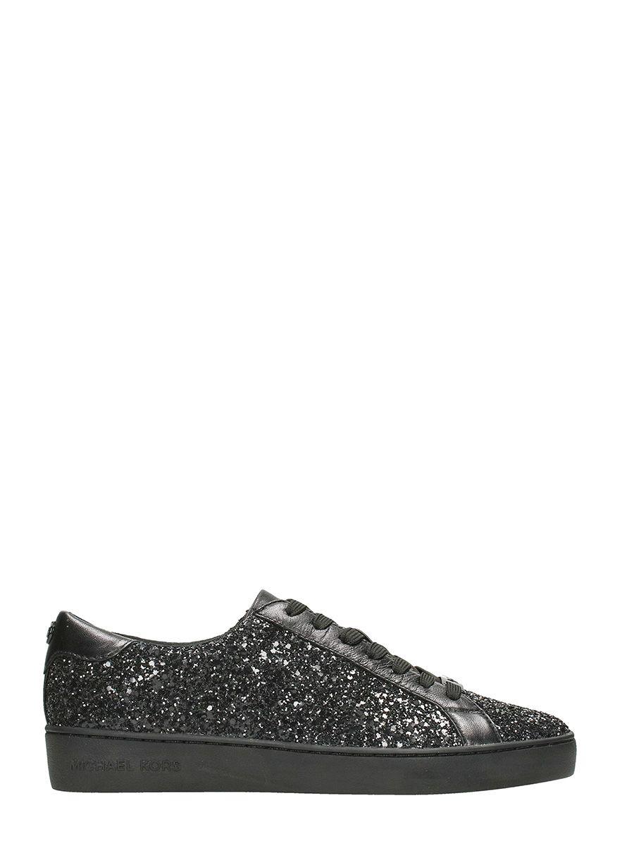 Michael Kors Irving Black Glitter Sneakers