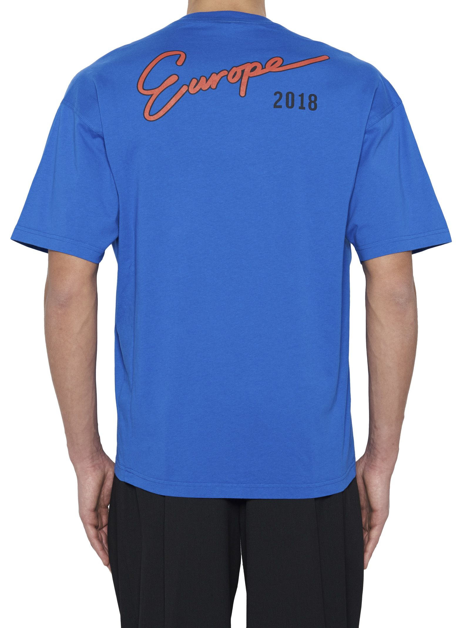 balenciaga t shirt mens blue