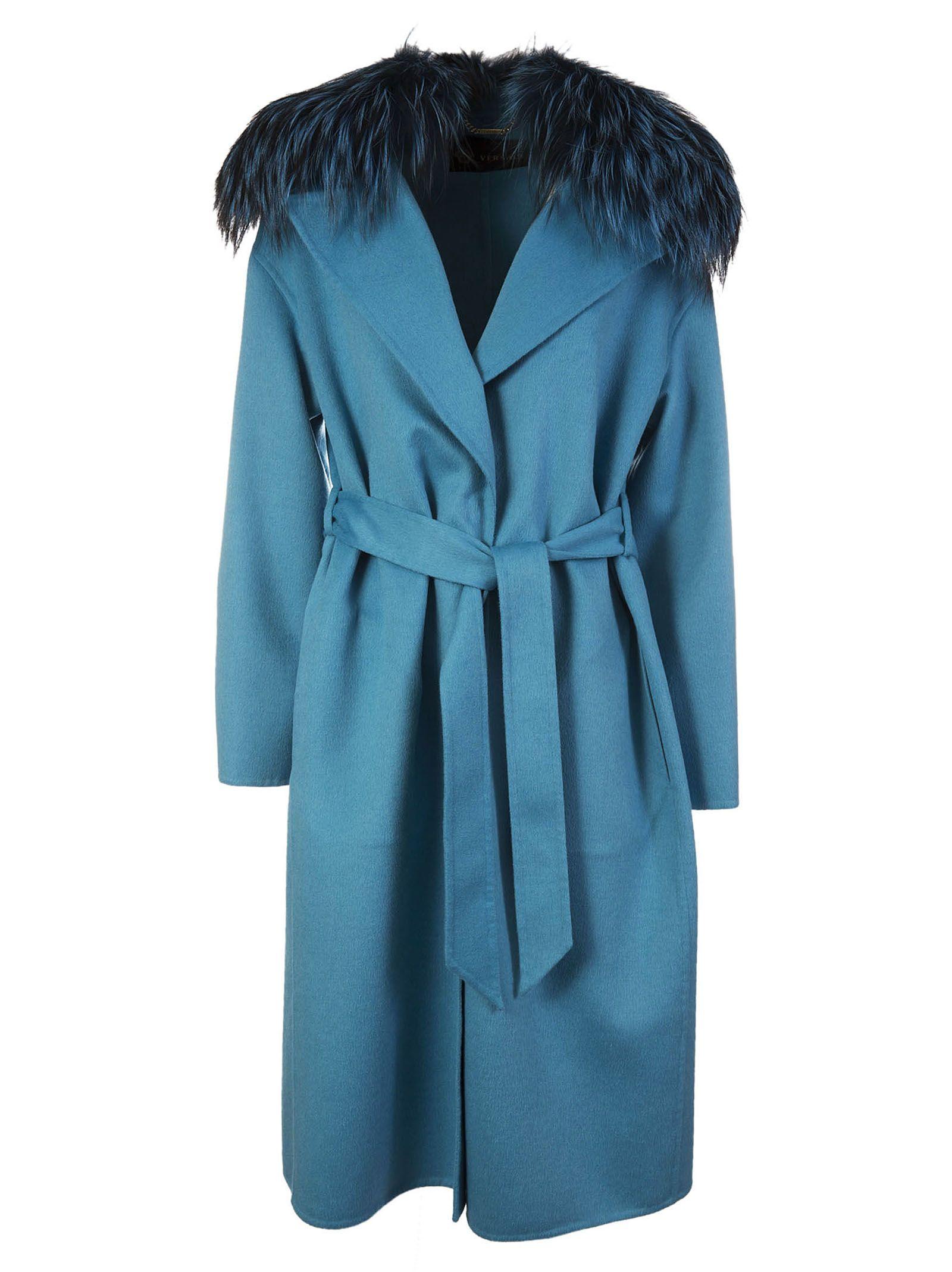 Versace Fur Trim Coat