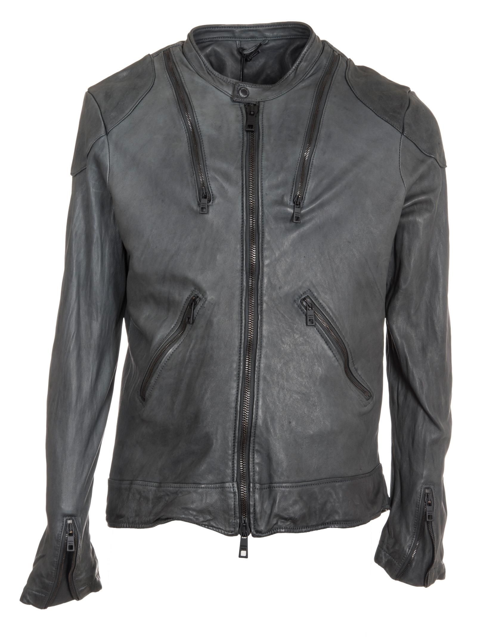 Giorgio Brato Zip Leather Jacket
