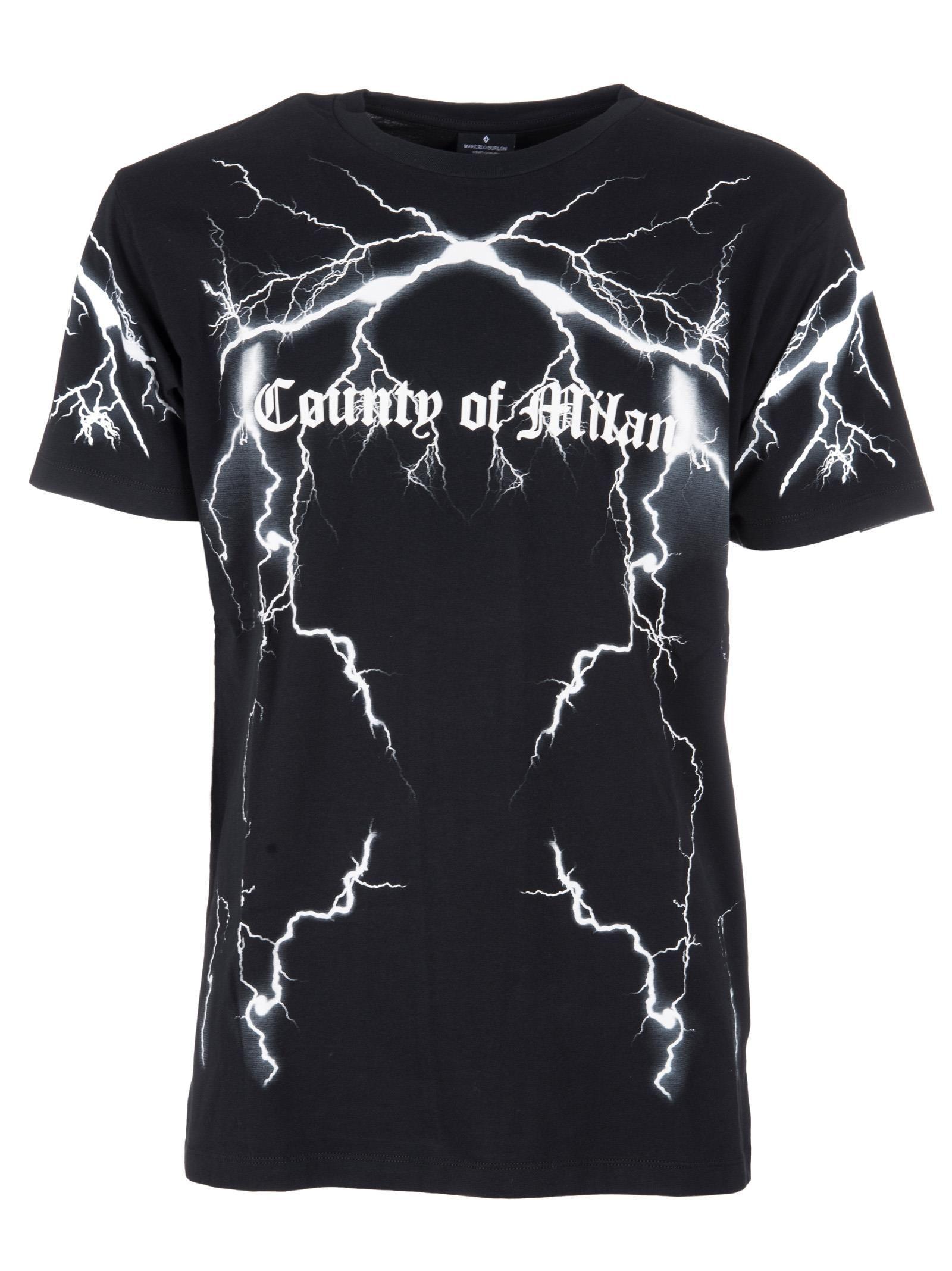 Marcelo Burlon Lightning Logo Print T-shirt