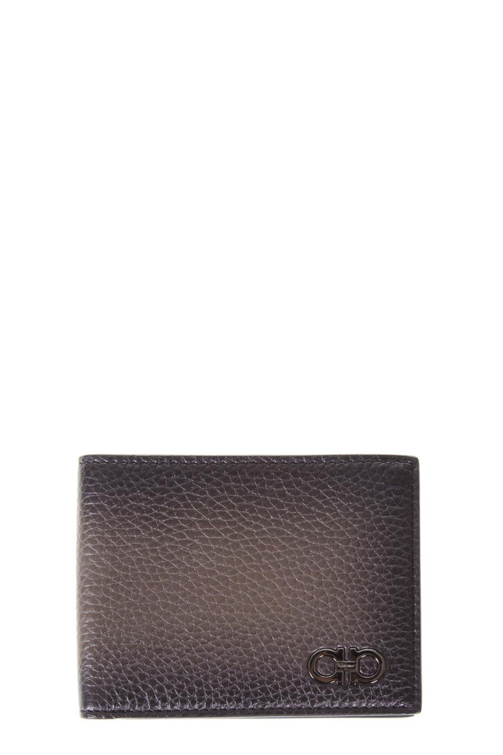 Salvatore Ferragamo Sepia Leather Gancini Wallet