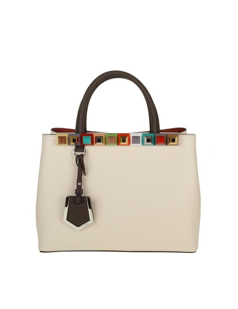 Fendi 2jour Petite Leather Color Ivory