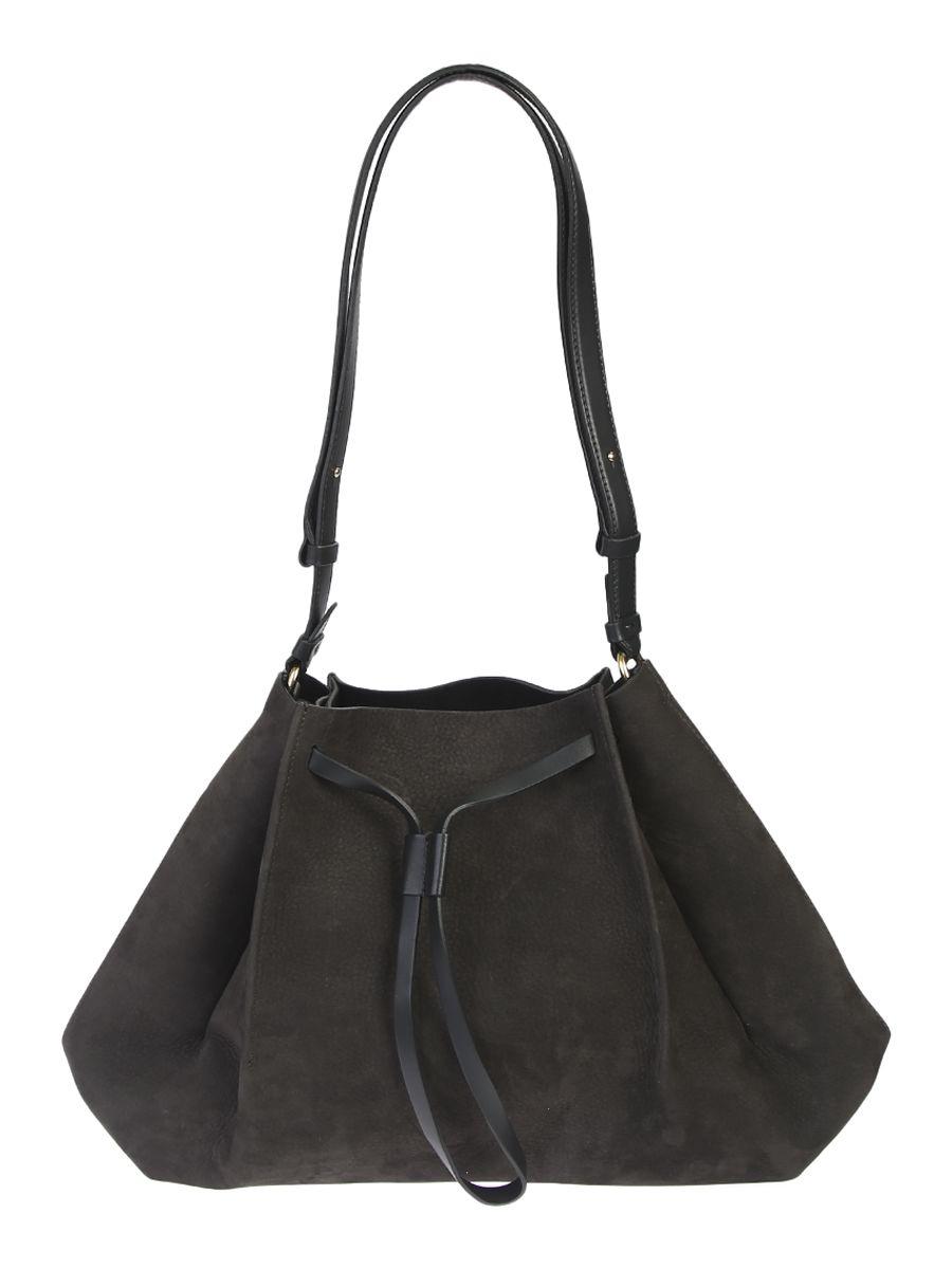 Nubuck Bucket Shoulder Bag