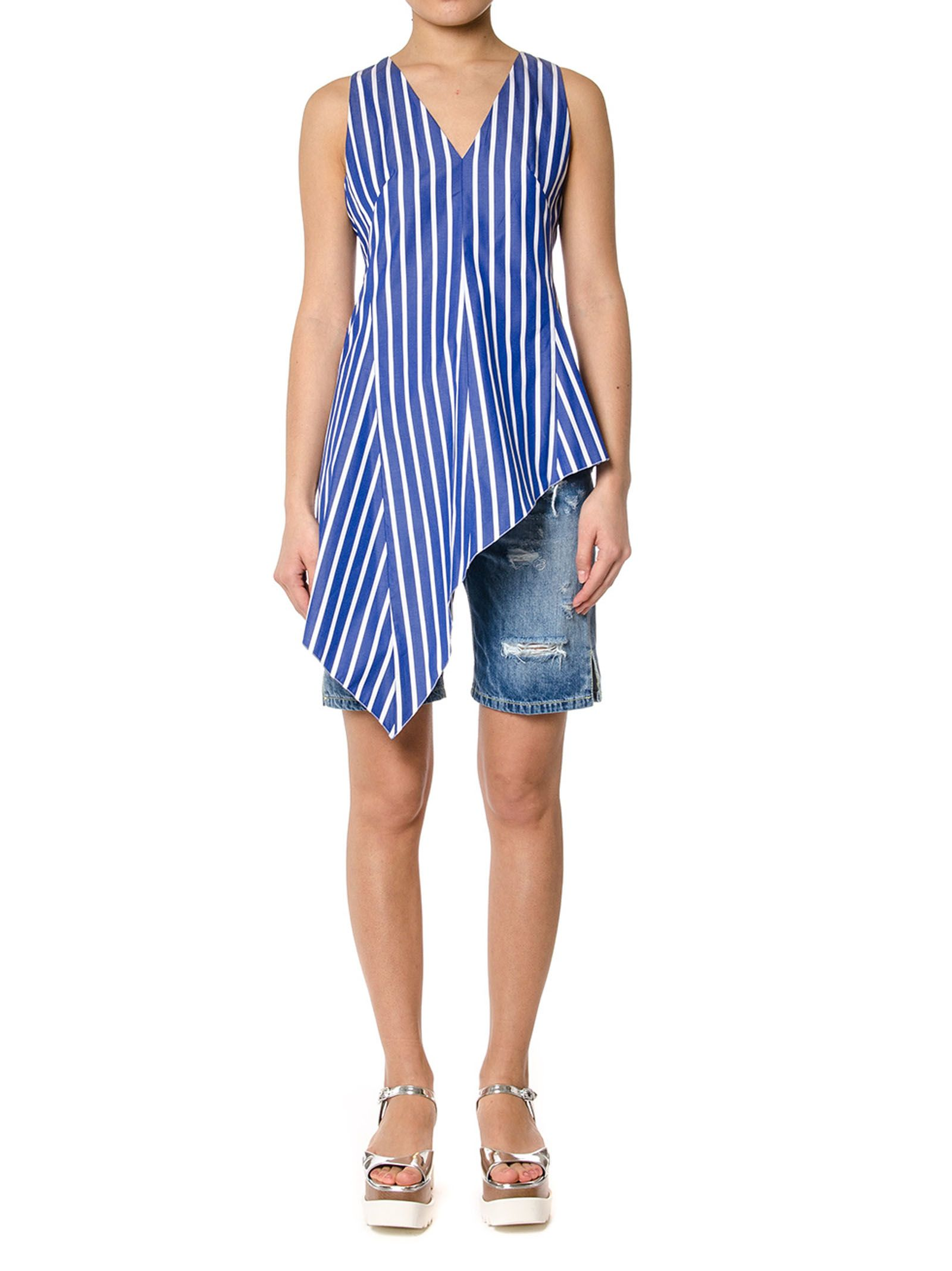 Dondup Striped Cotton Oversized Top