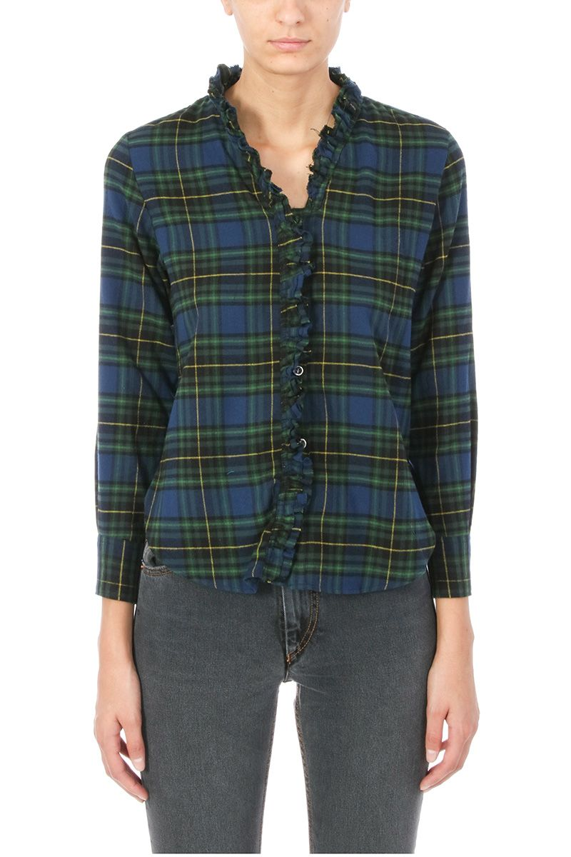 Isabel Marant Etoile Awendy Ruffled Check Shirt