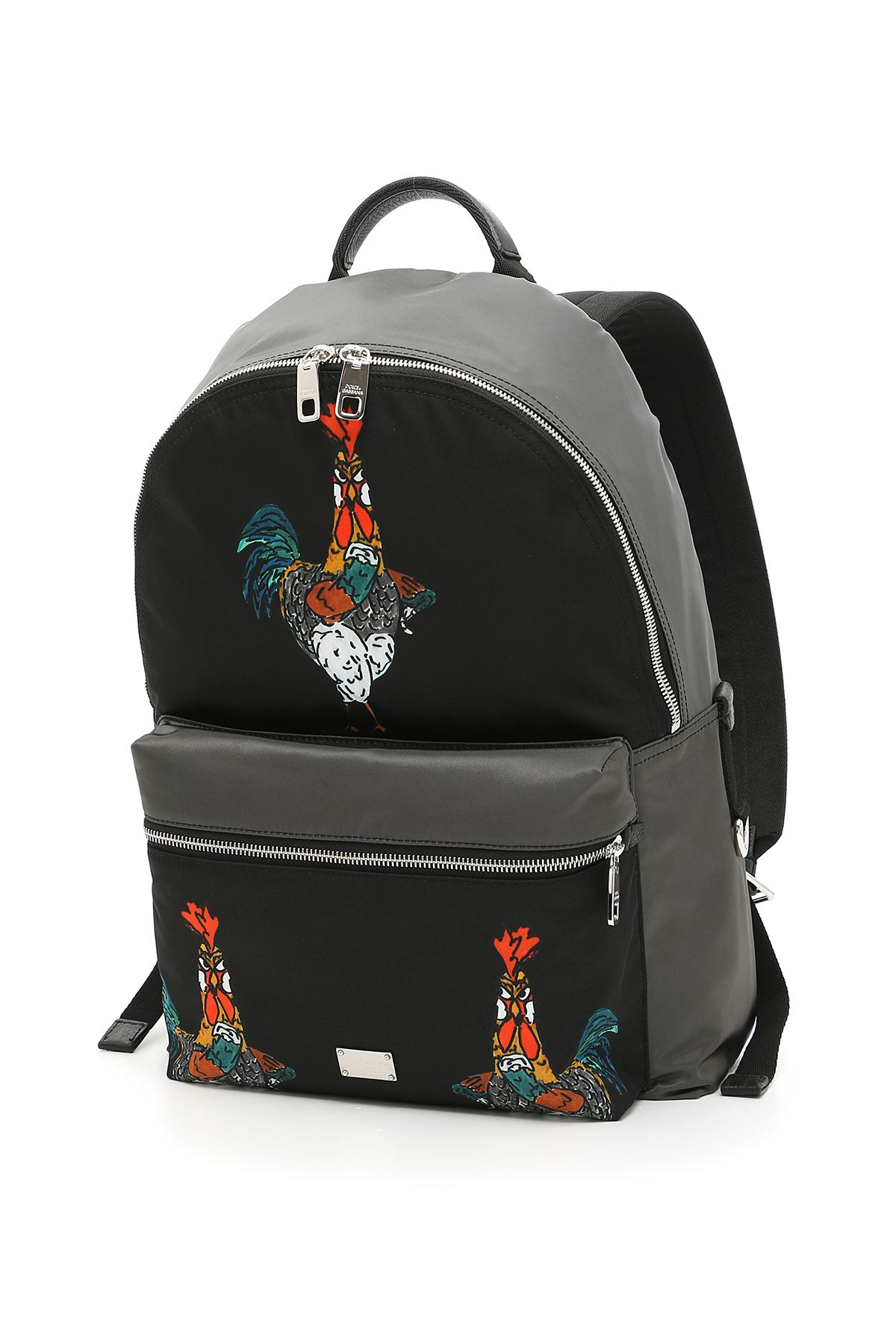 Rooster Print Nylon Backpack