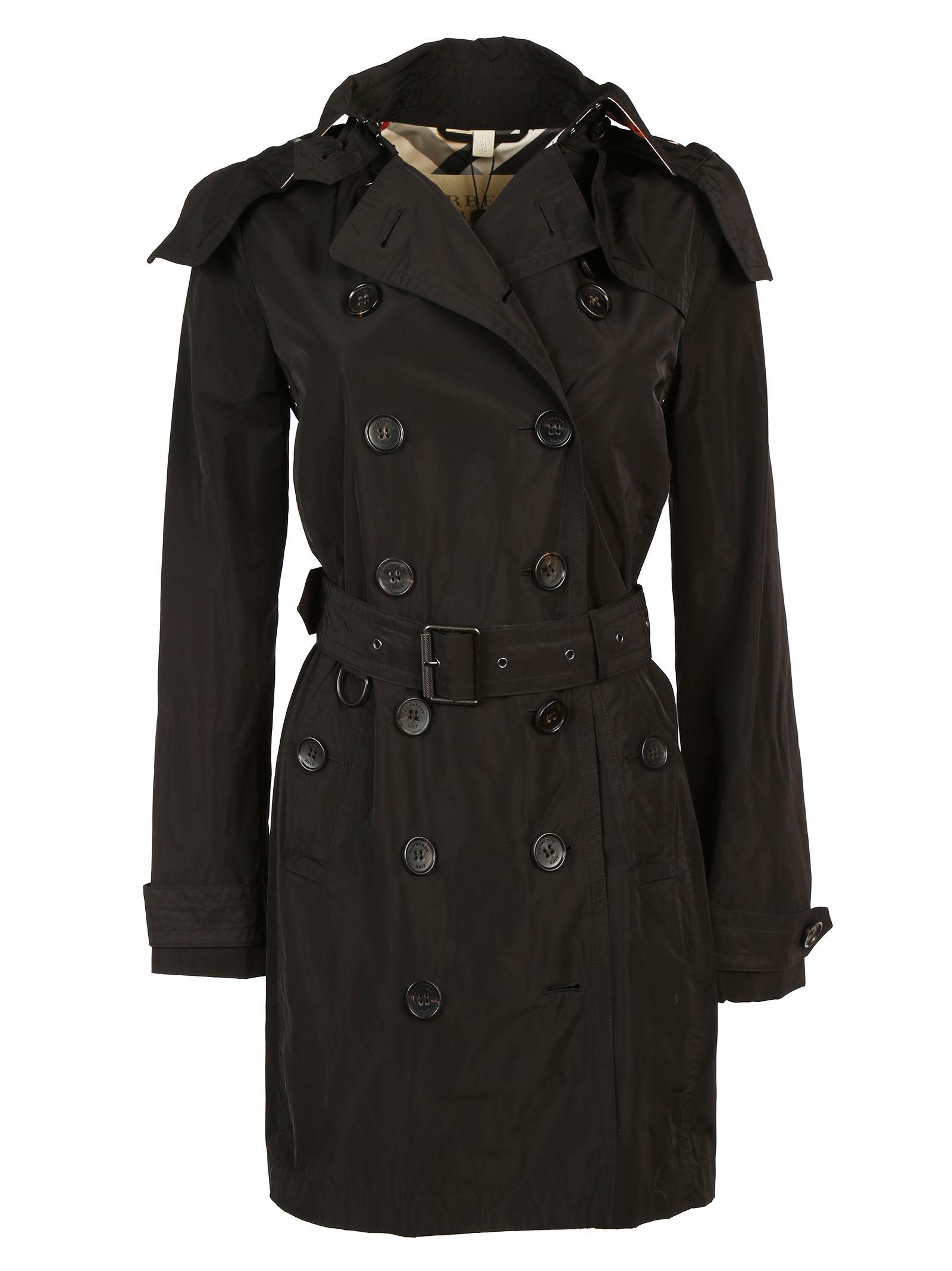 burberry brit burberry brit trench coat black women 39 s. Black Bedroom Furniture Sets. Home Design Ideas