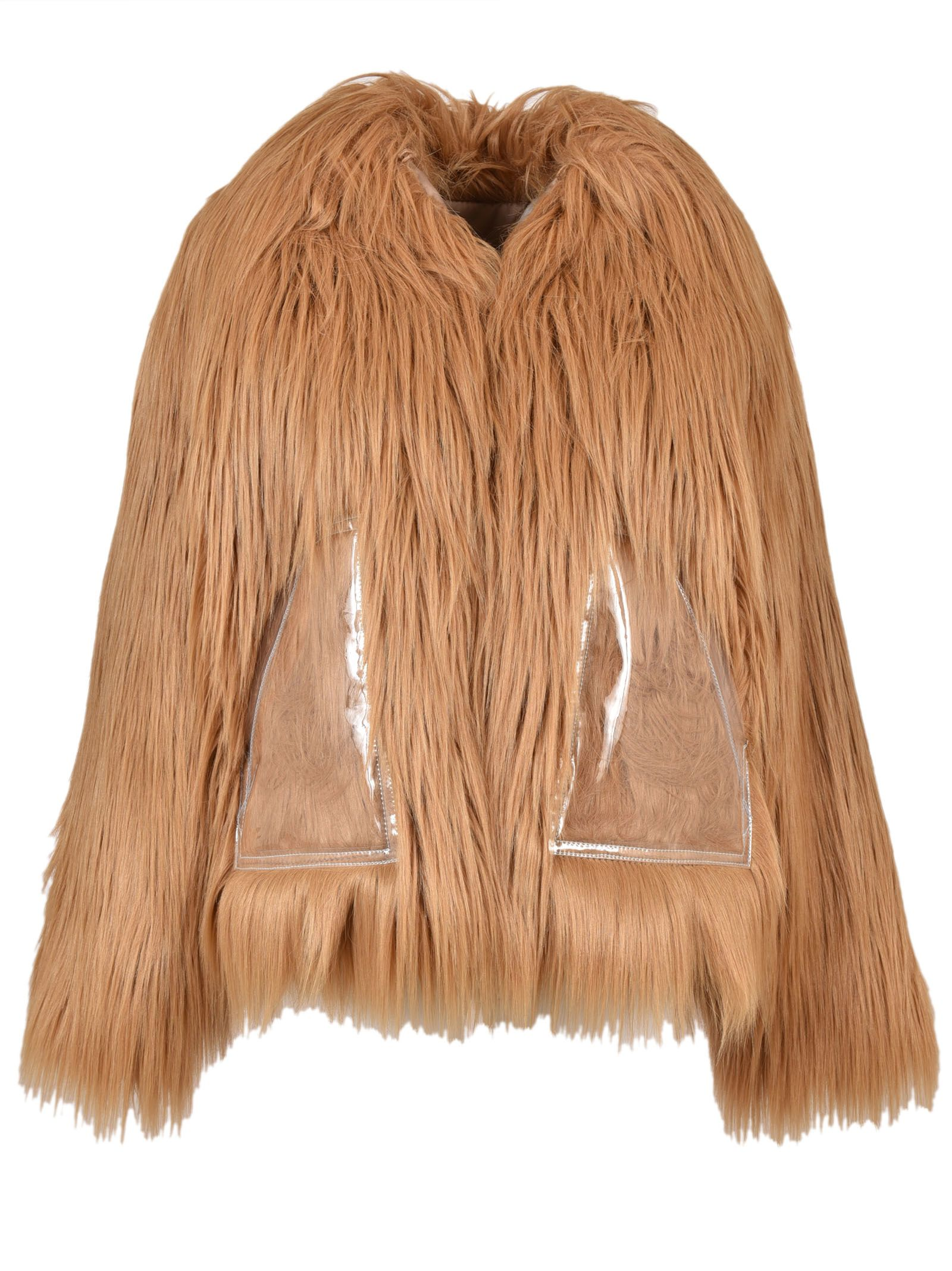 Maison Margiela Faux-Fur Short Coat