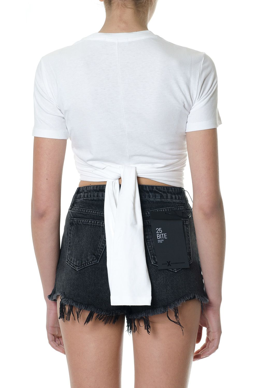 Alexander Wang High Twist Cropped Length White Cotton Top