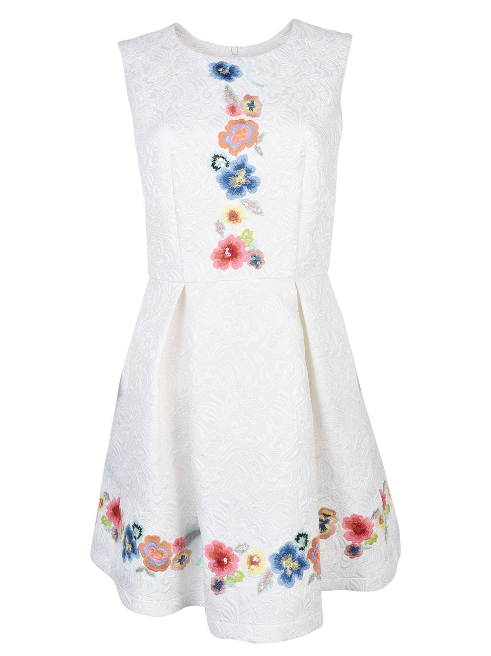 Blugirl Embroidered Floral Dress