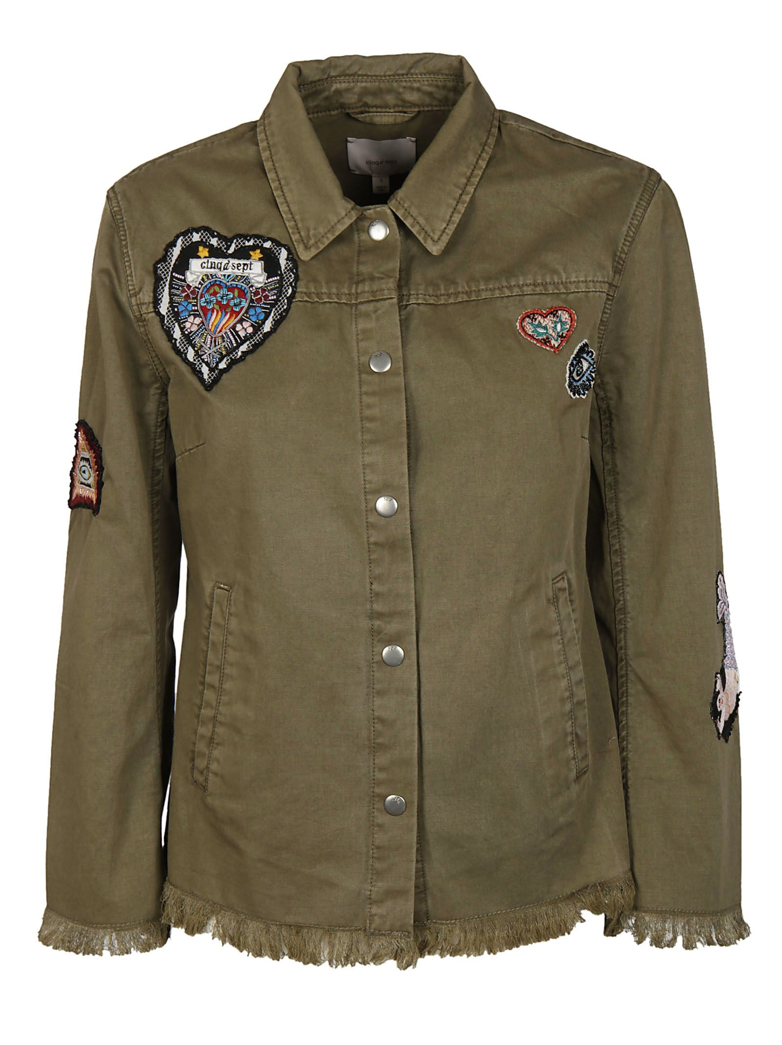 Cinq A Sept Frayed Military Jacket