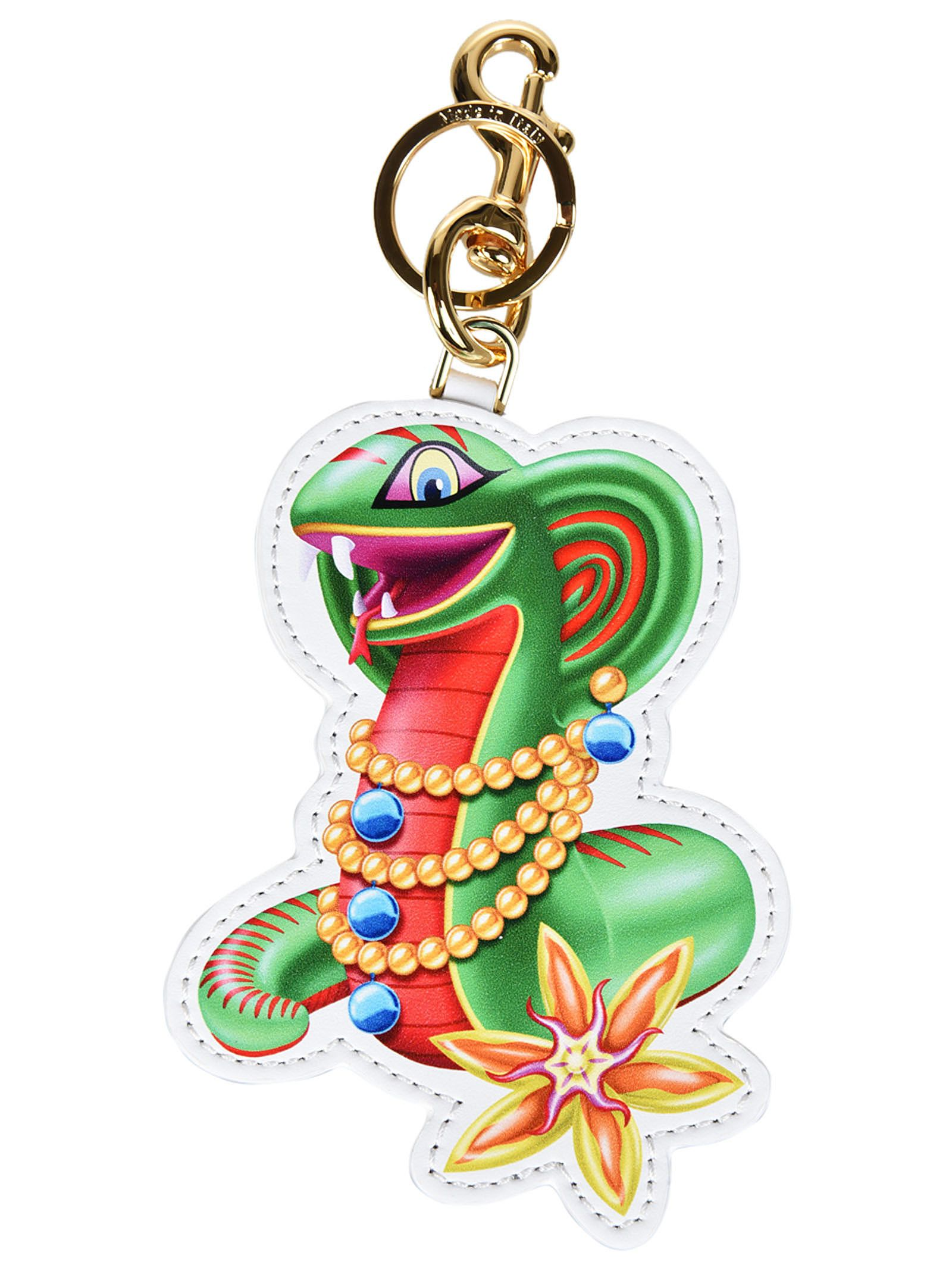 Moschino Jeweled Snake Keyring