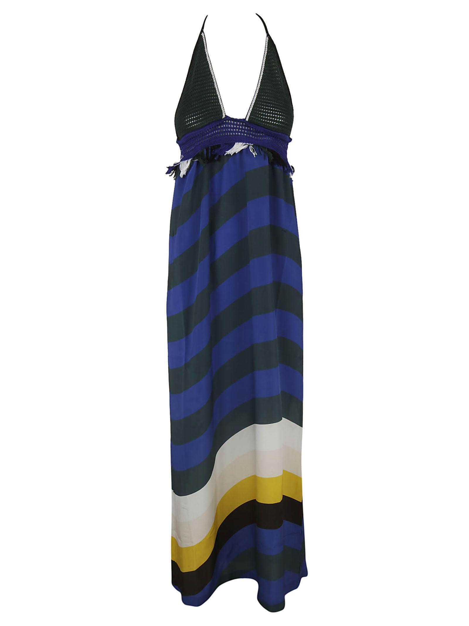 Fendi Halterneck Maxi Dress